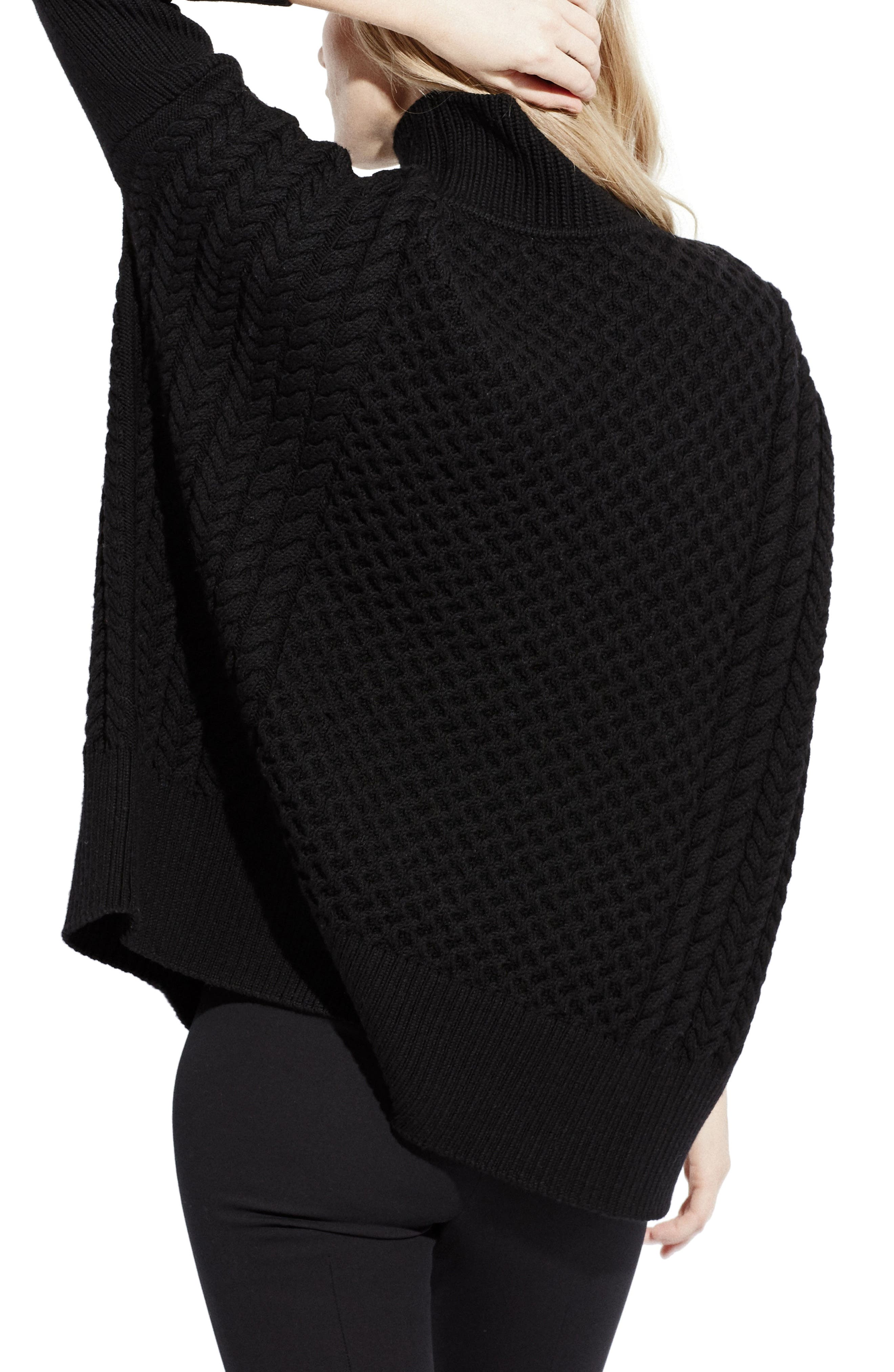 Le Square Turtleneck Sweater,                             Alternate thumbnail 2, color,                             001