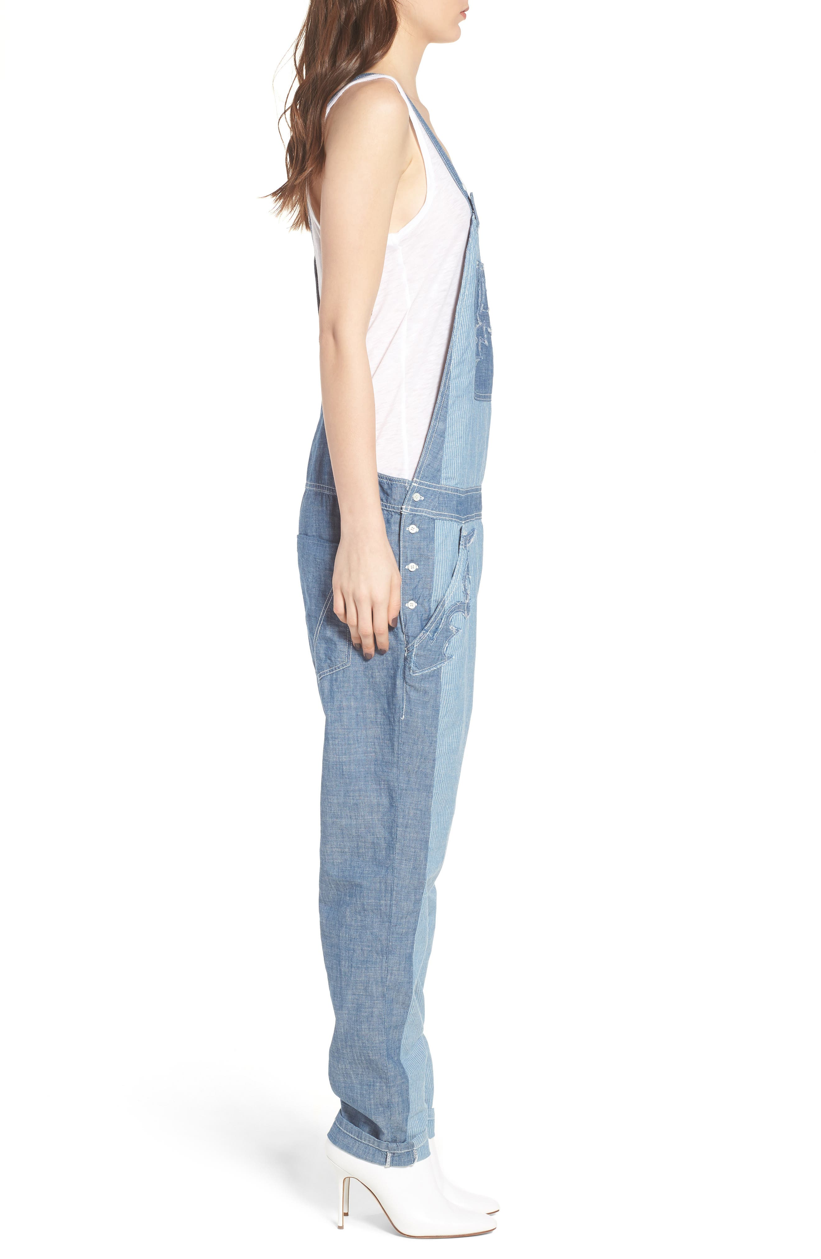 Sidney Patch Overalls,                             Alternate thumbnail 3, color,                             465