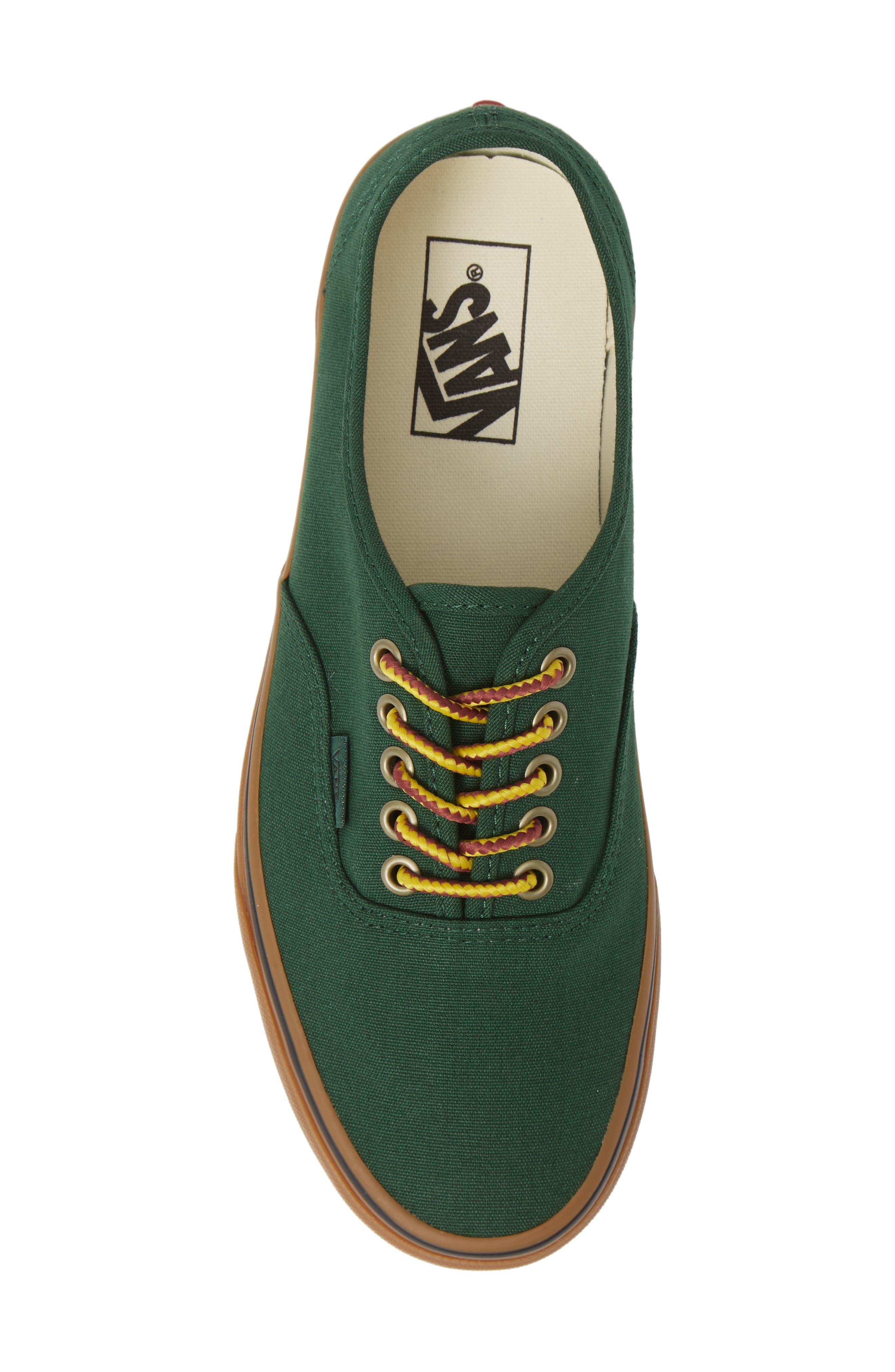 Authentic Sneaker,                             Alternate thumbnail 5, color,                             GREEN EDEN