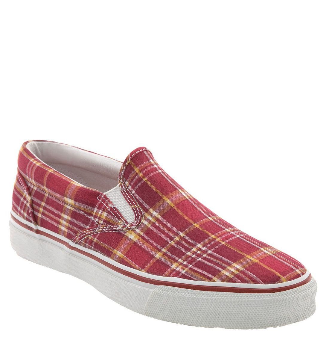 Top-Sider<sup>®</sup> 'Striper' Slip-On,                             Main thumbnail 1, color,                             GREY CANVAS
