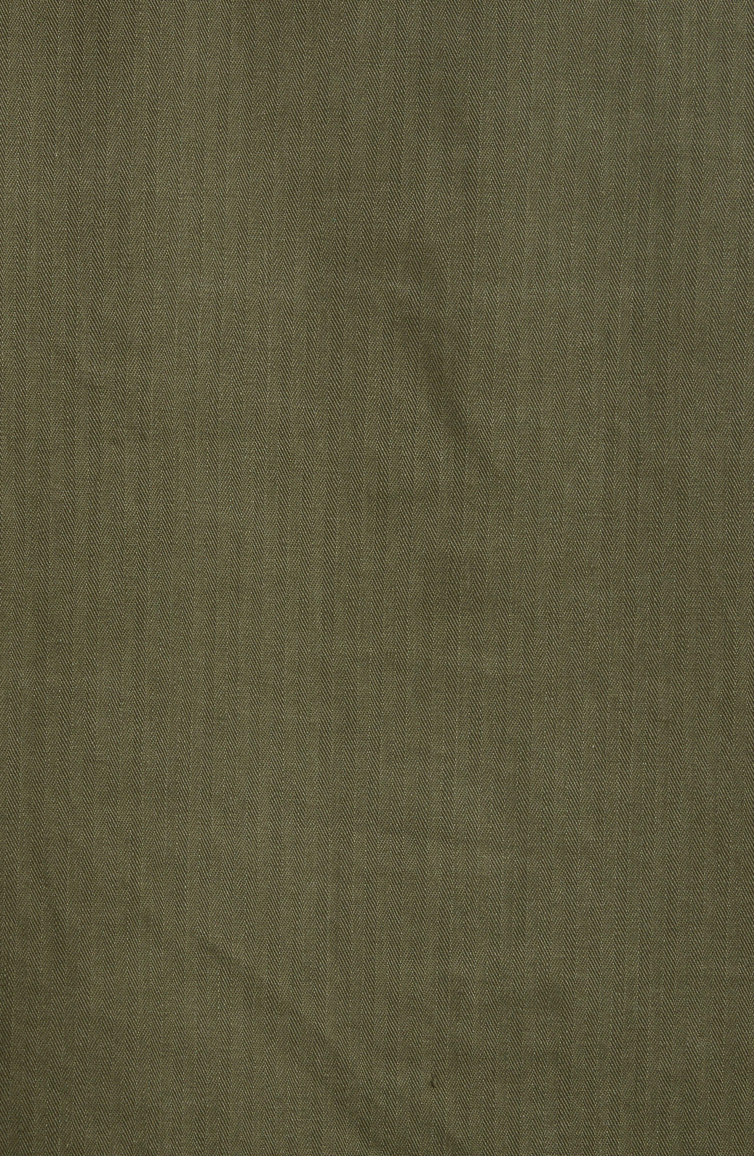 Leather Trim Vintage Army Jacket,                             Alternate thumbnail 6, color,                             300