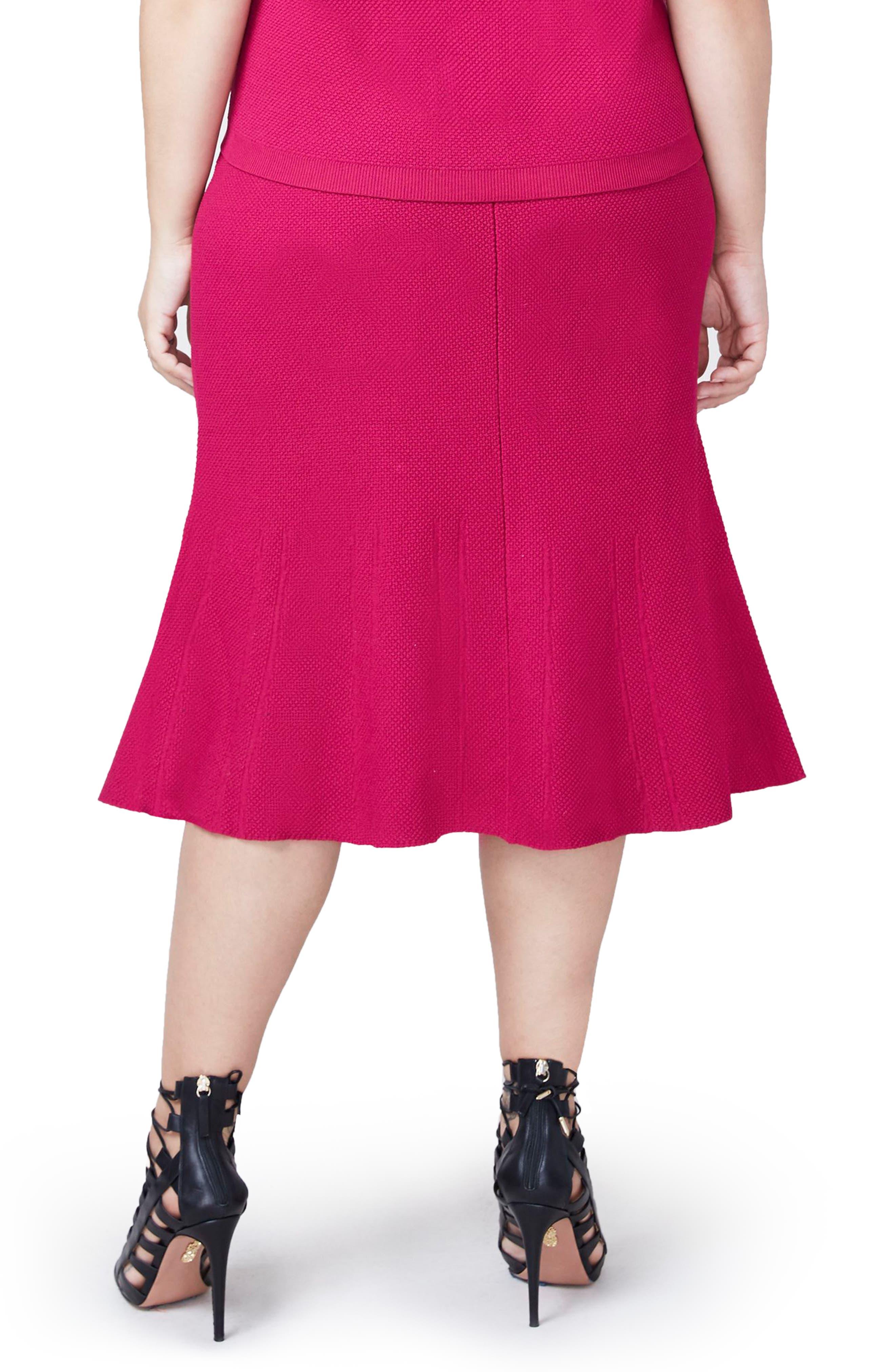 Rachel Roy Pebble Jacquard Fit & Flare Skirt,                             Alternate thumbnail 4, color,