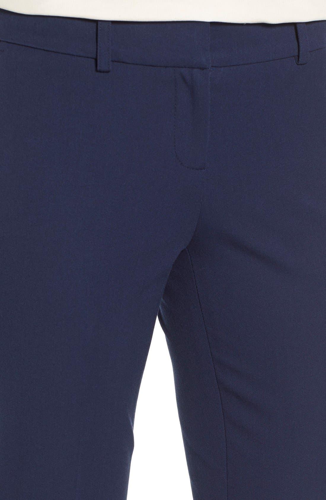 Crop Stretch Cotton Pants,                             Alternate thumbnail 78, color,