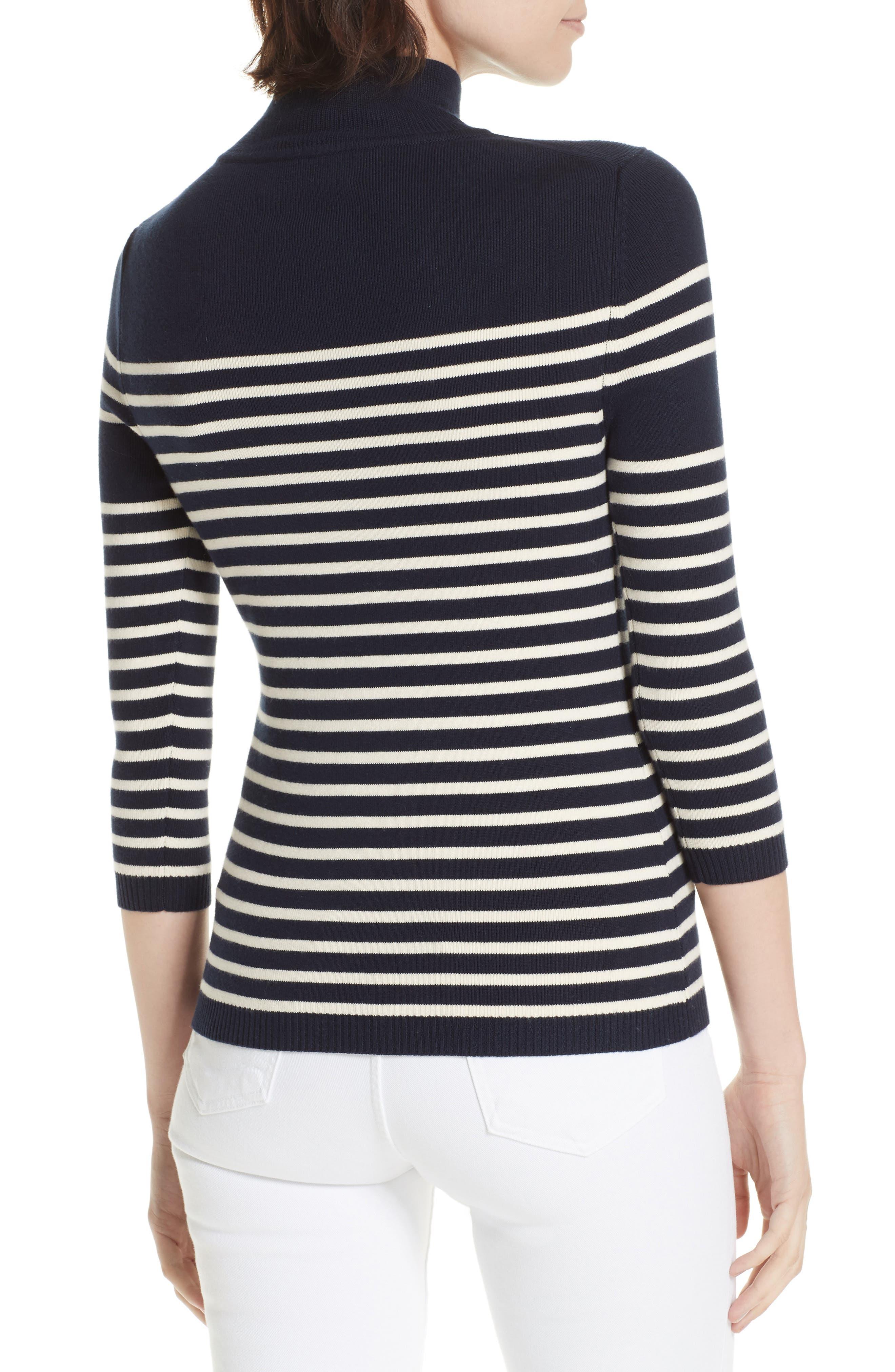 Classique Stripe Sweater,                             Alternate thumbnail 2, color,                             401