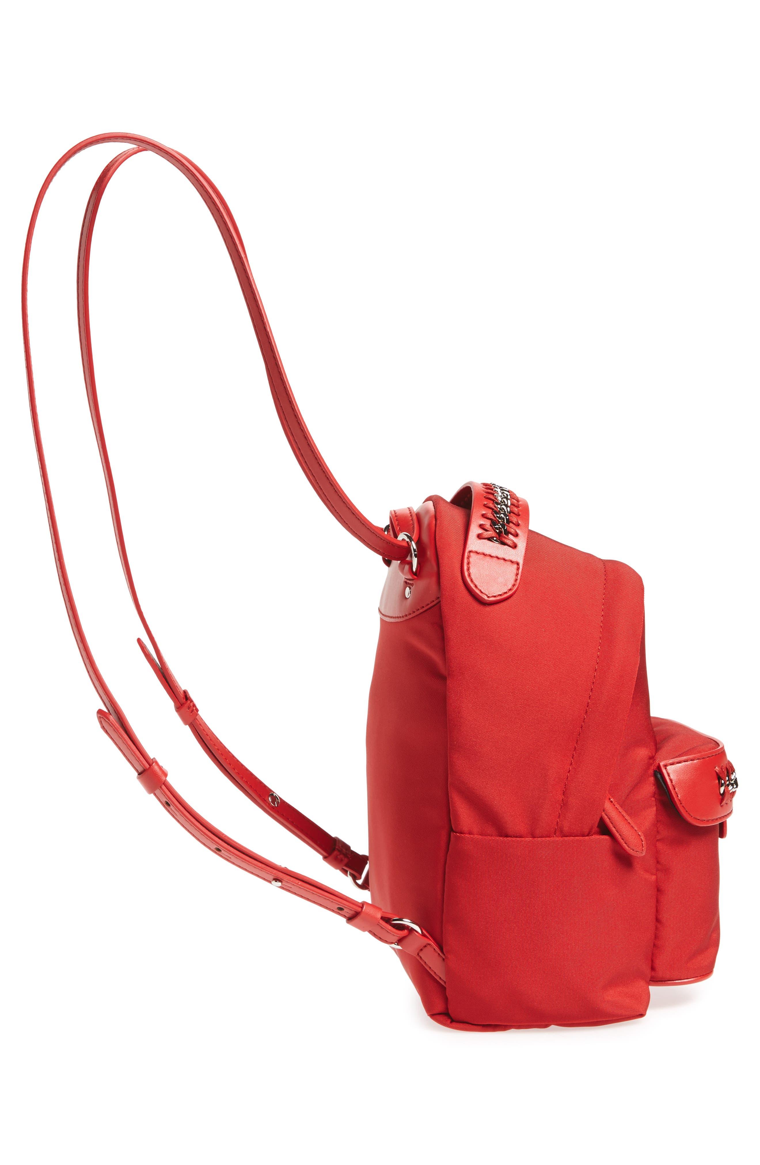 Mini Falabella Nylon Backpack,                             Alternate thumbnail 10, color,