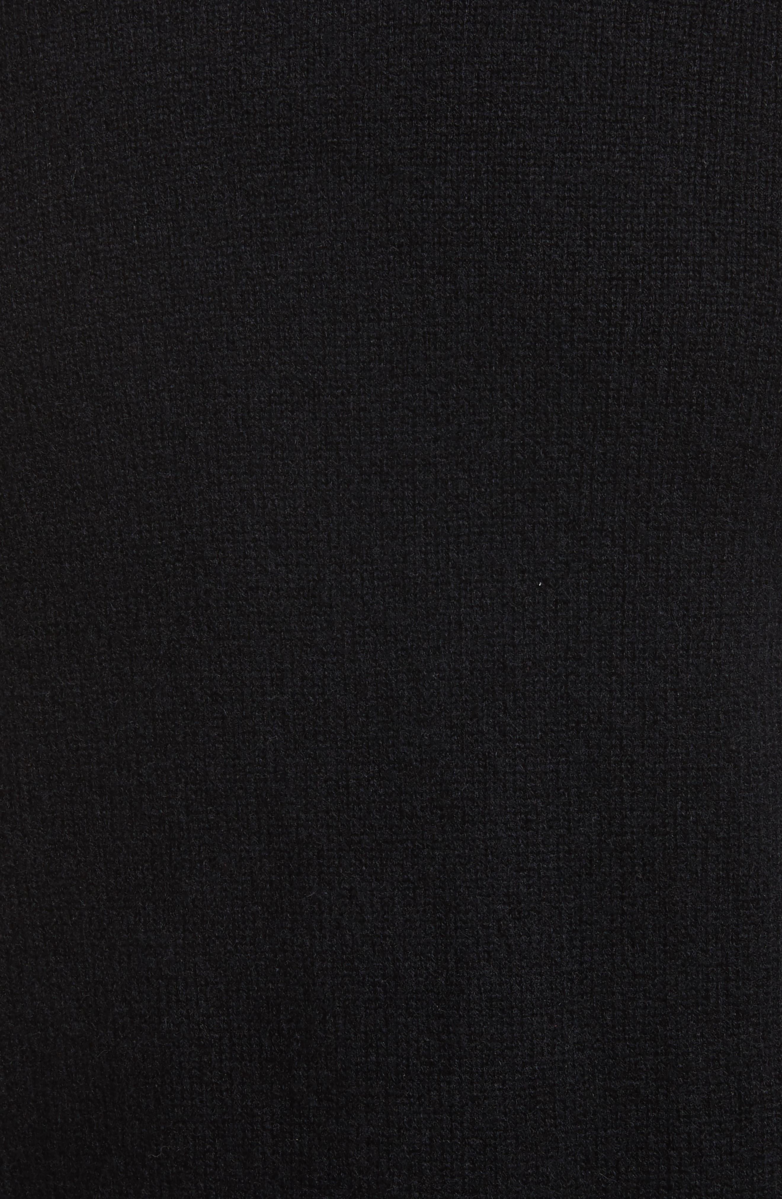 Haldon Cashmere Crewneck Sweatshirt,                             Alternate thumbnail 5, color,                             001