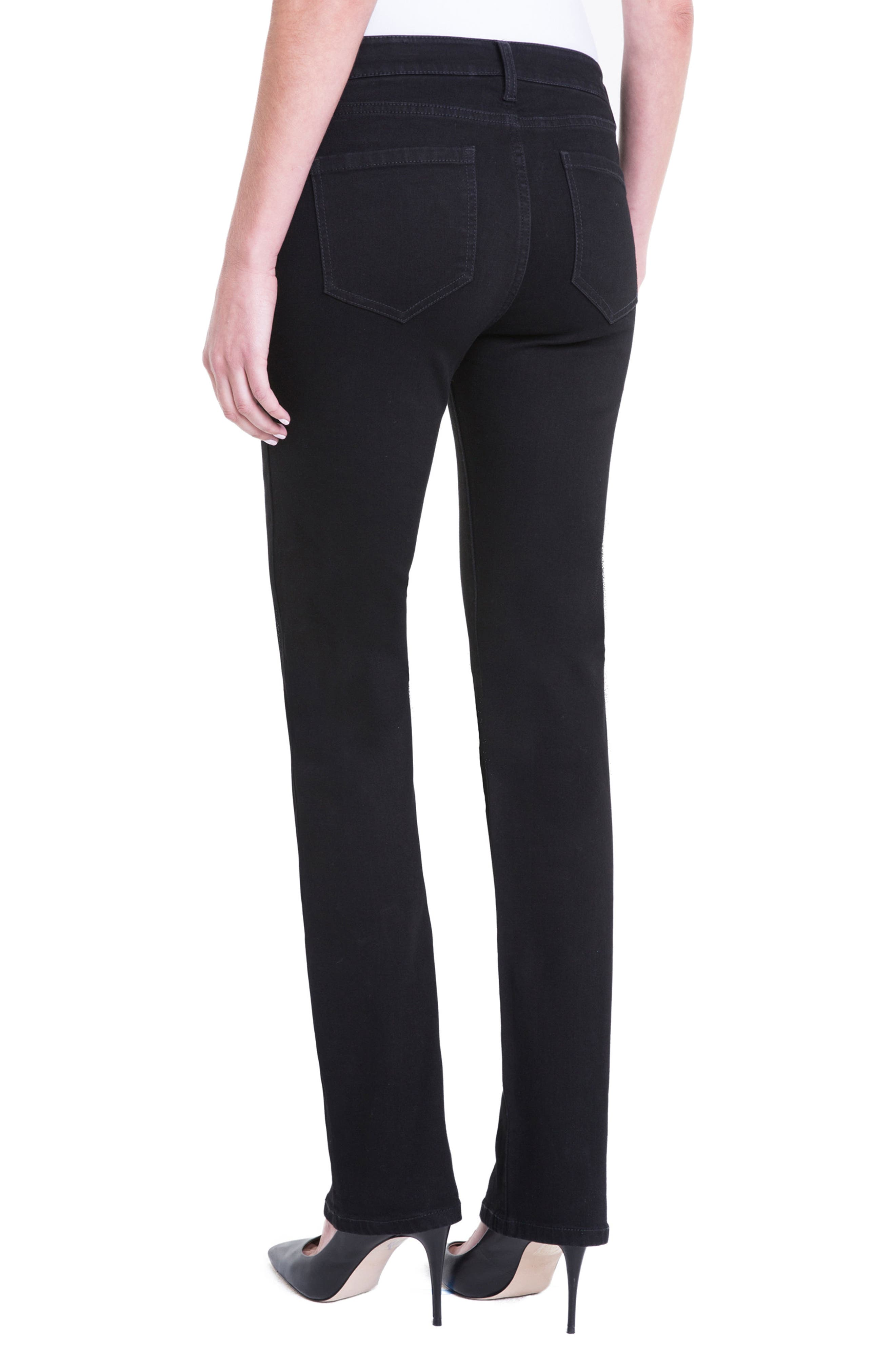 Sadie Mid Rise Stretch Straight Jeans,                             Alternate thumbnail 5, color,