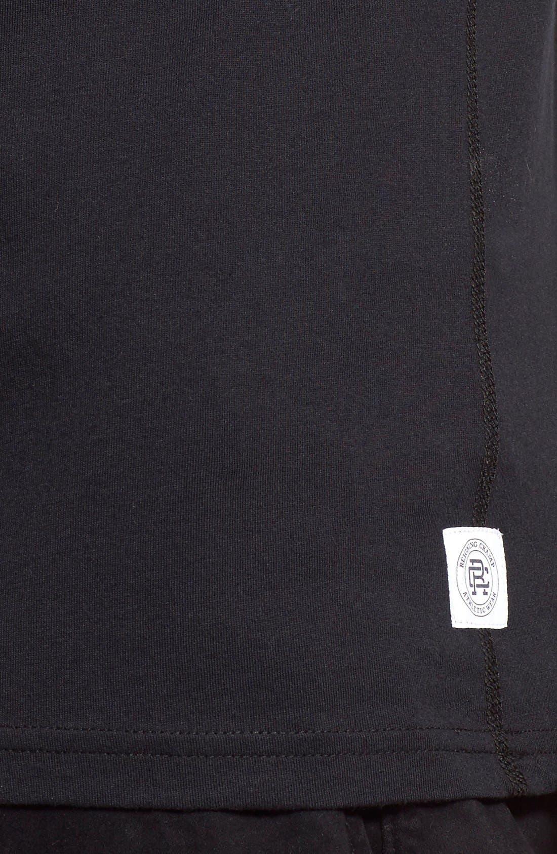 Short Sleeve Crewneck T-Shirt,                             Alternate thumbnail 4, color,                             BLACK