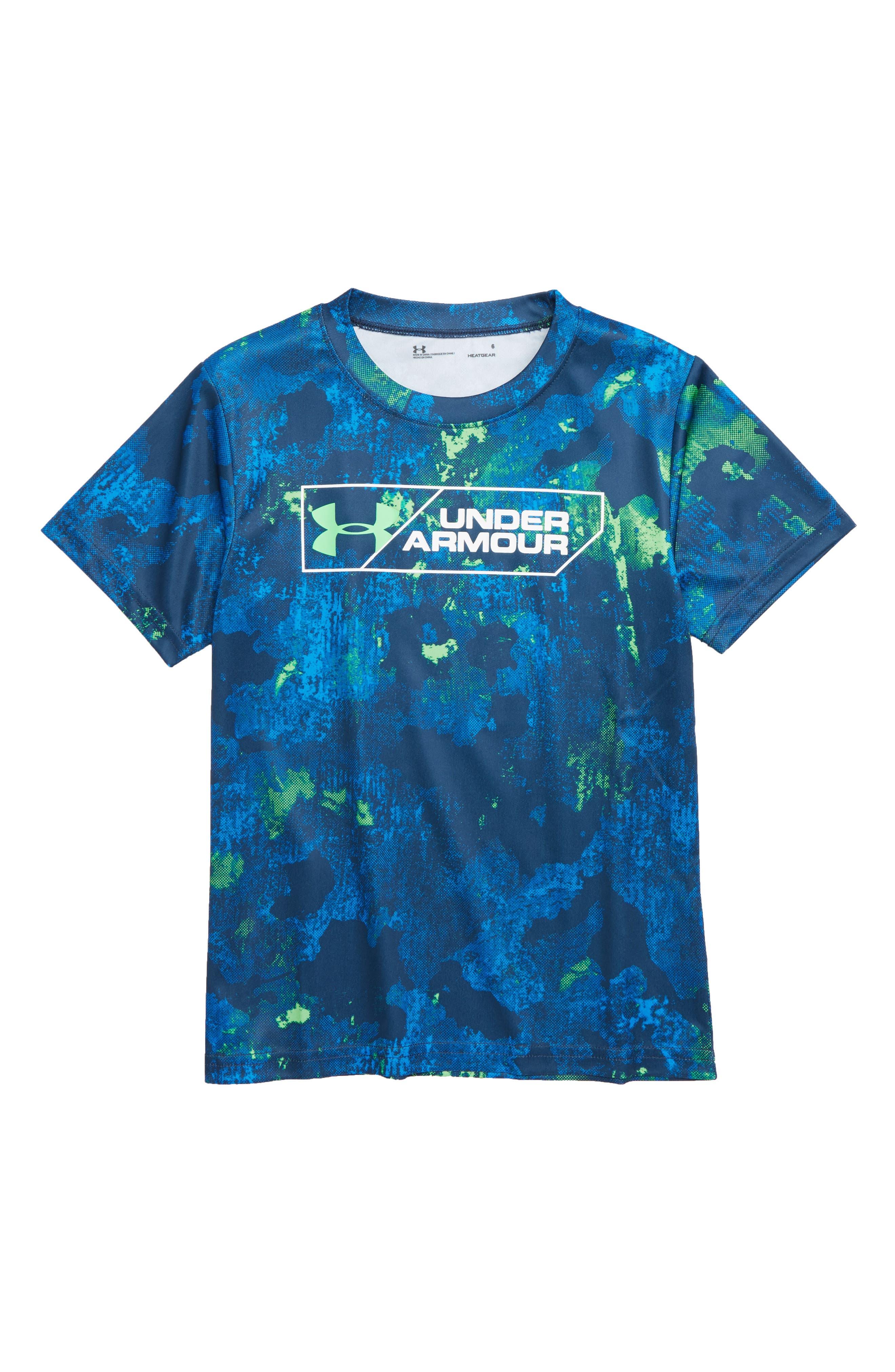 Boys Under Armour Bedrock Camo Shirt