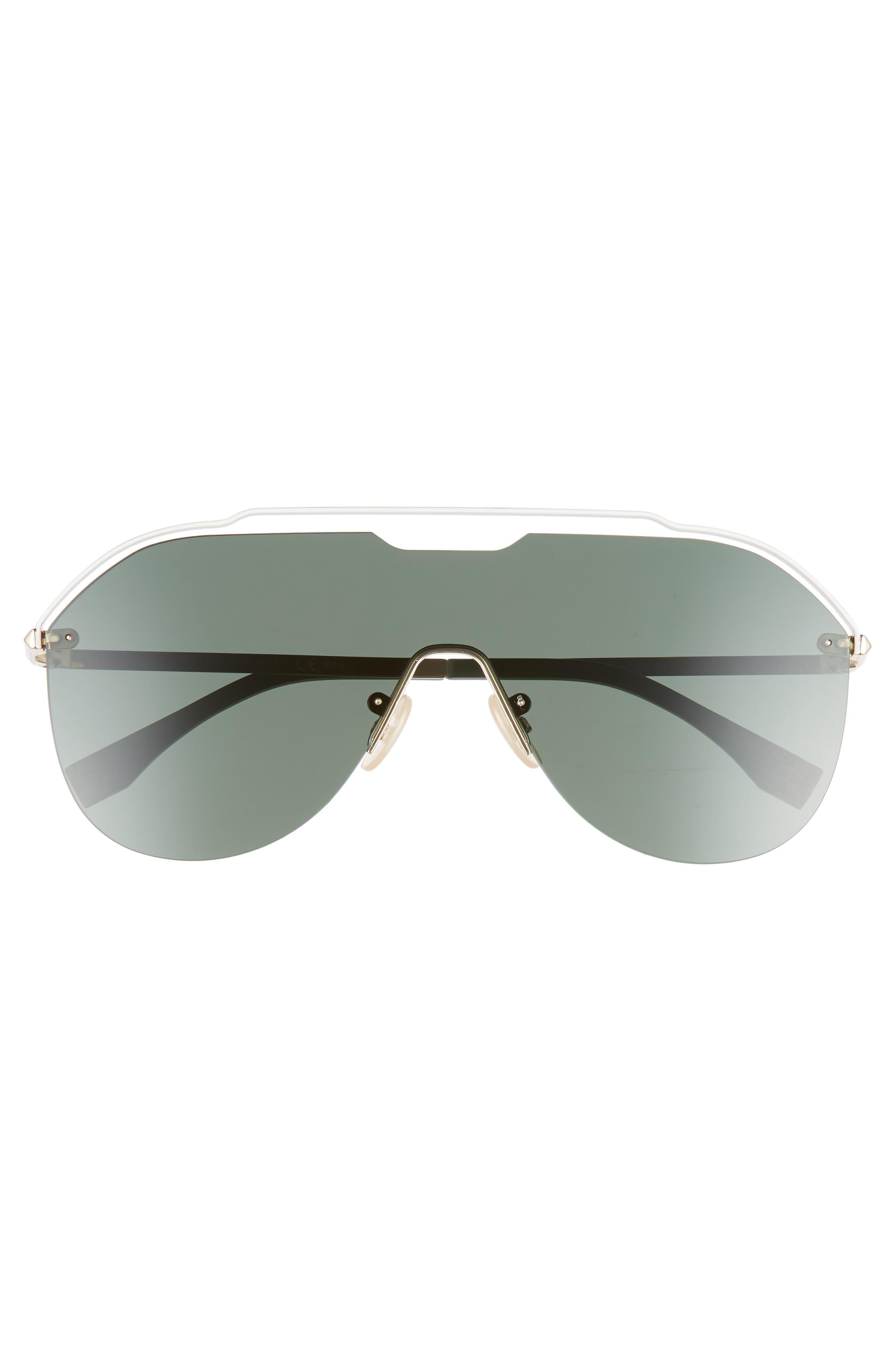 137mm Shield Aviator Sunglasses,                             Alternate thumbnail 2, color,                             GOLD