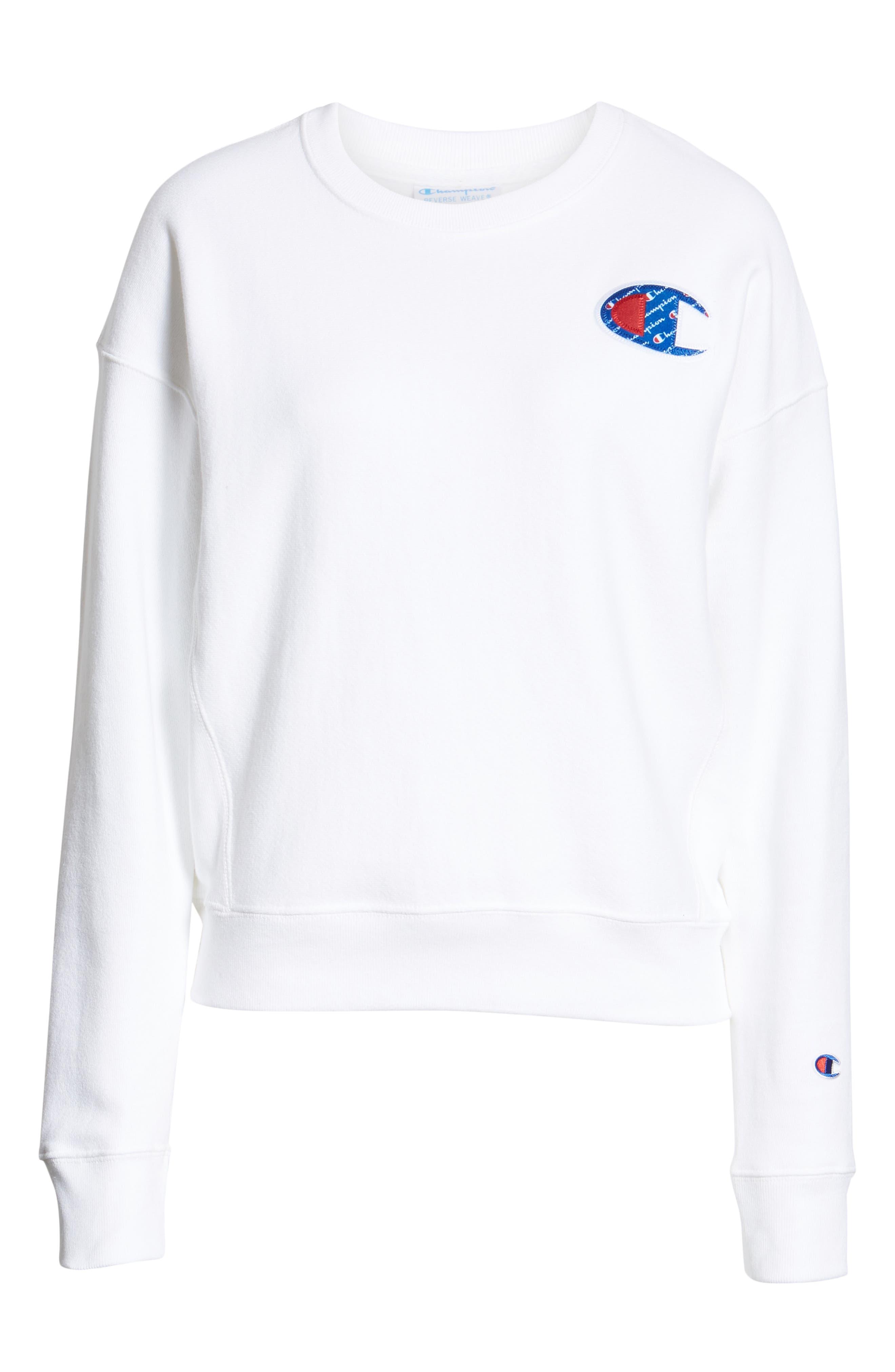 Sublimated Logo Sweatshirt,                             Alternate thumbnail 7, color,                             WHITE