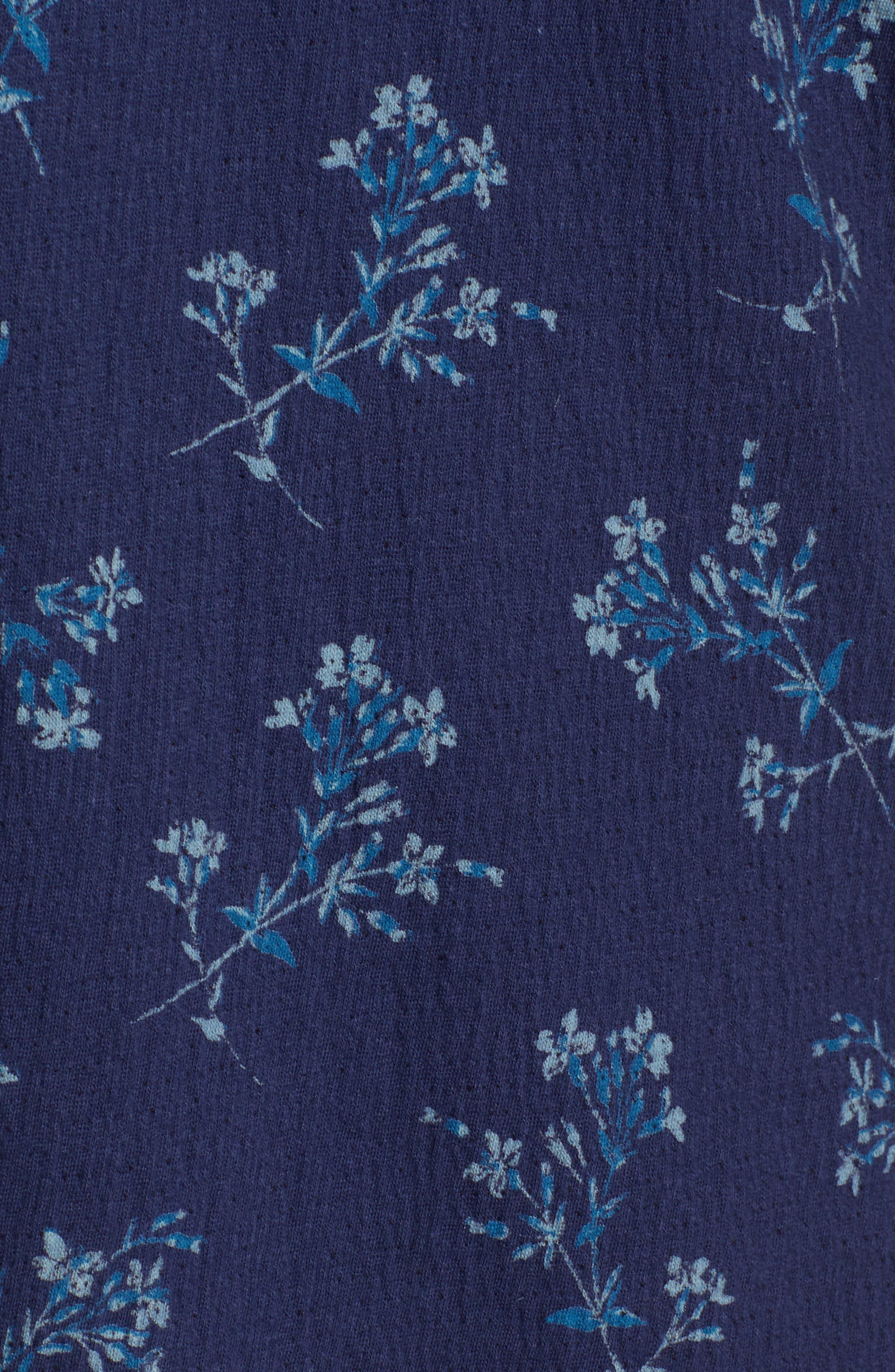Tiered Sleeve Mini Dress,                             Alternate thumbnail 5, color,                             400