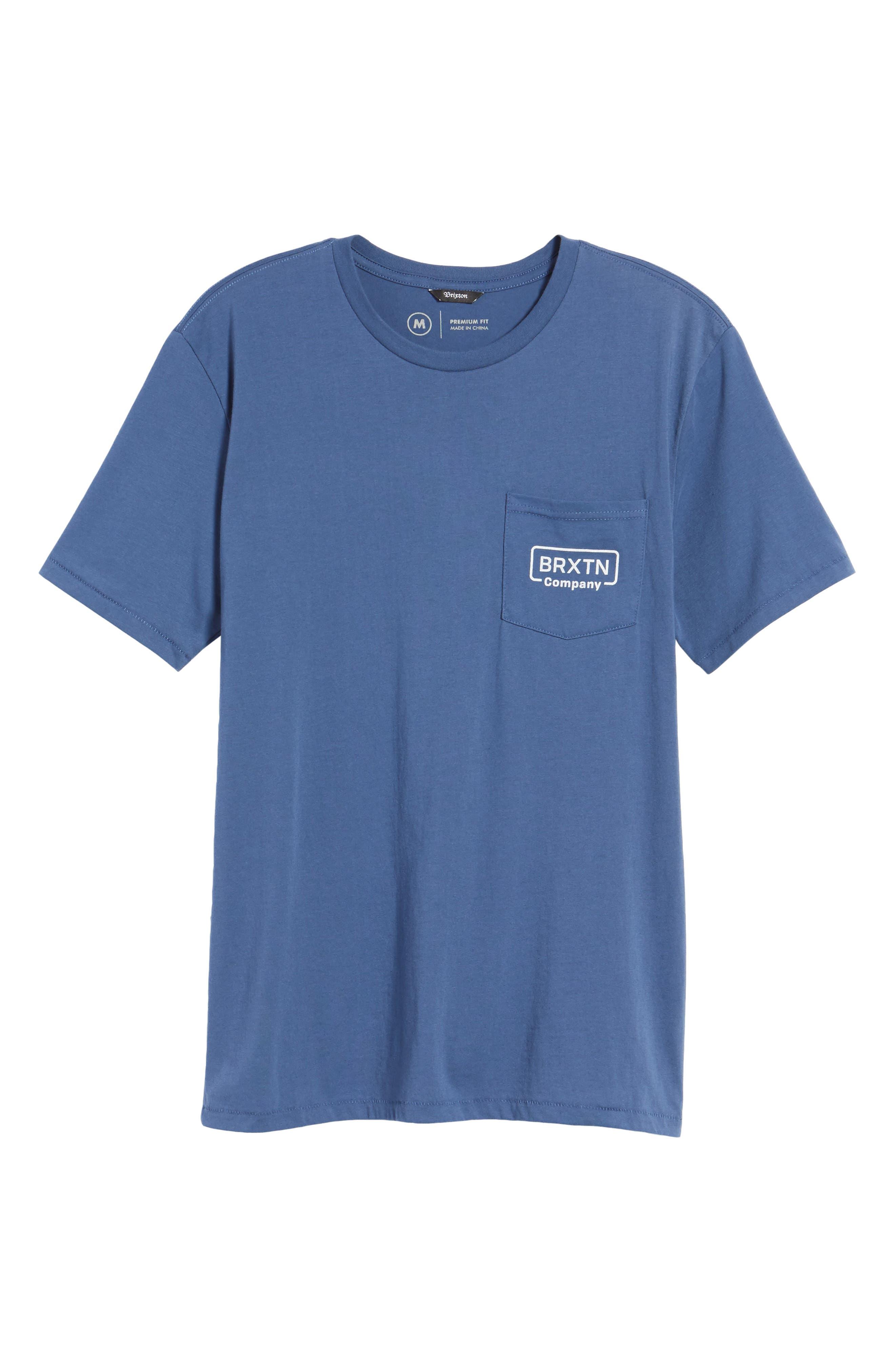 Crosswhite Pocket T-Shirt,                             Alternate thumbnail 6, color,                             400