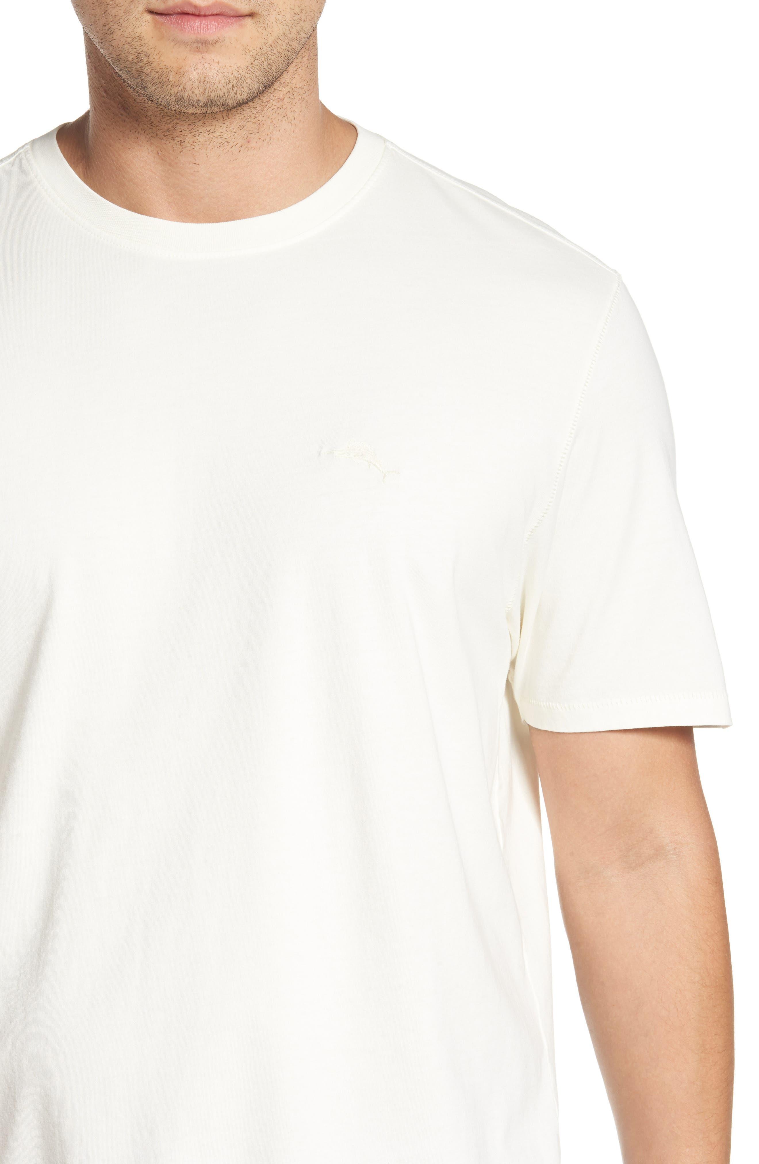 Beach Crewneck T-Shirt,                             Alternate thumbnail 4, color,                             100
