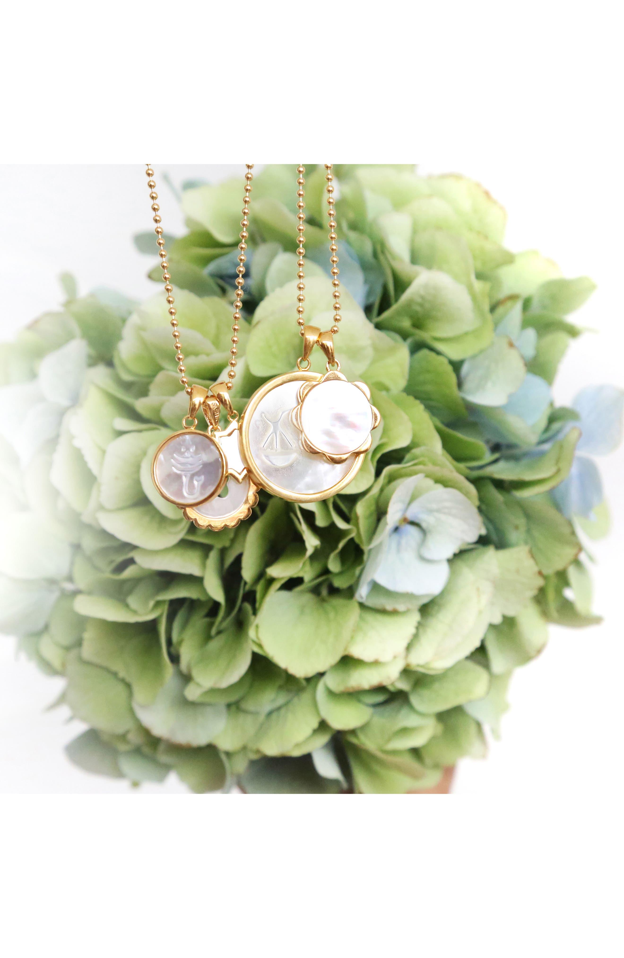 Zodiac Mother-of-Pearl Pendant Necklace,                             Alternate thumbnail 3, color,                             AQUARIUS