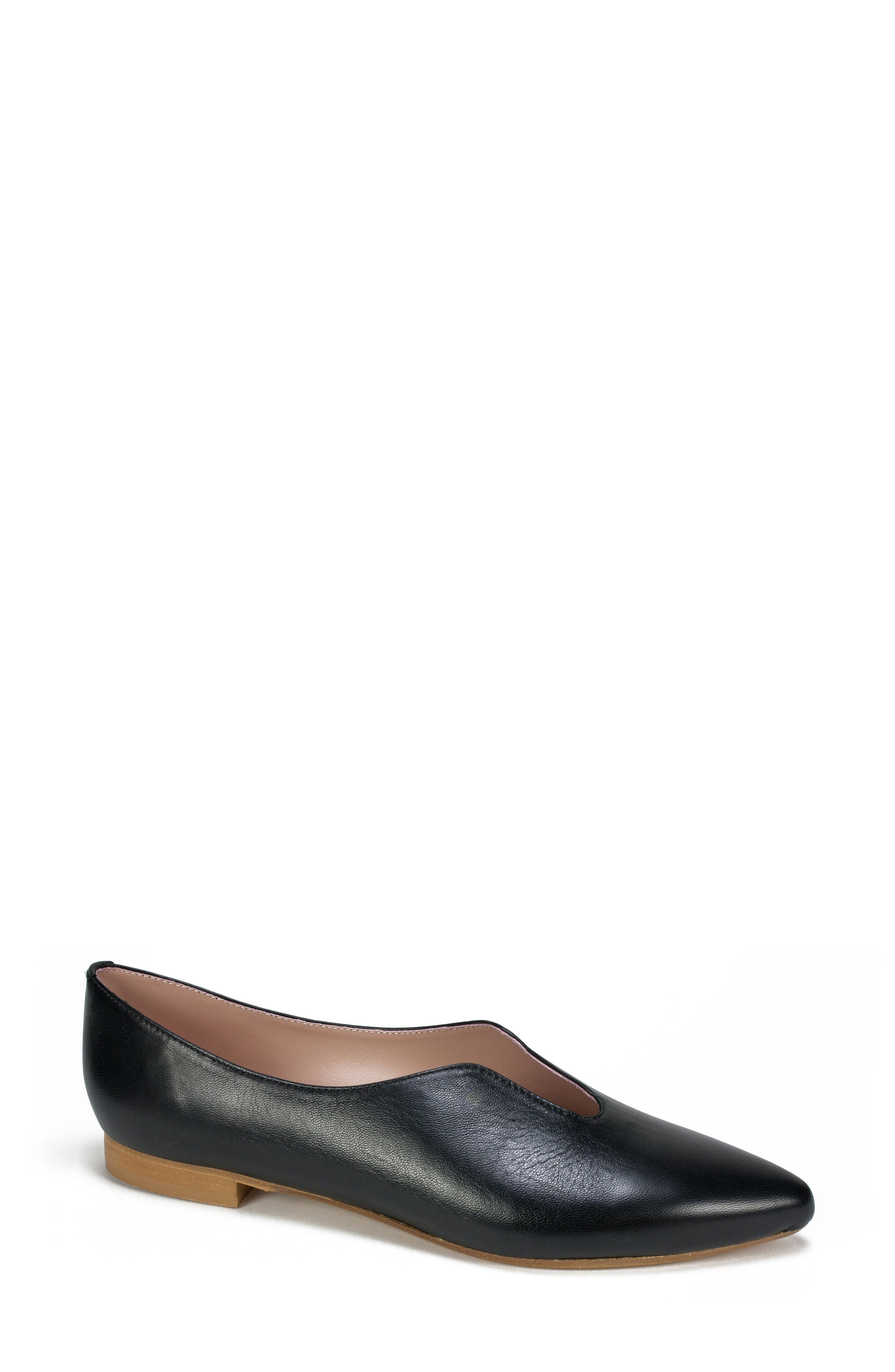 by White Mountain Kade Flat,                             Main thumbnail 1, color,                             BLACK LEATHER