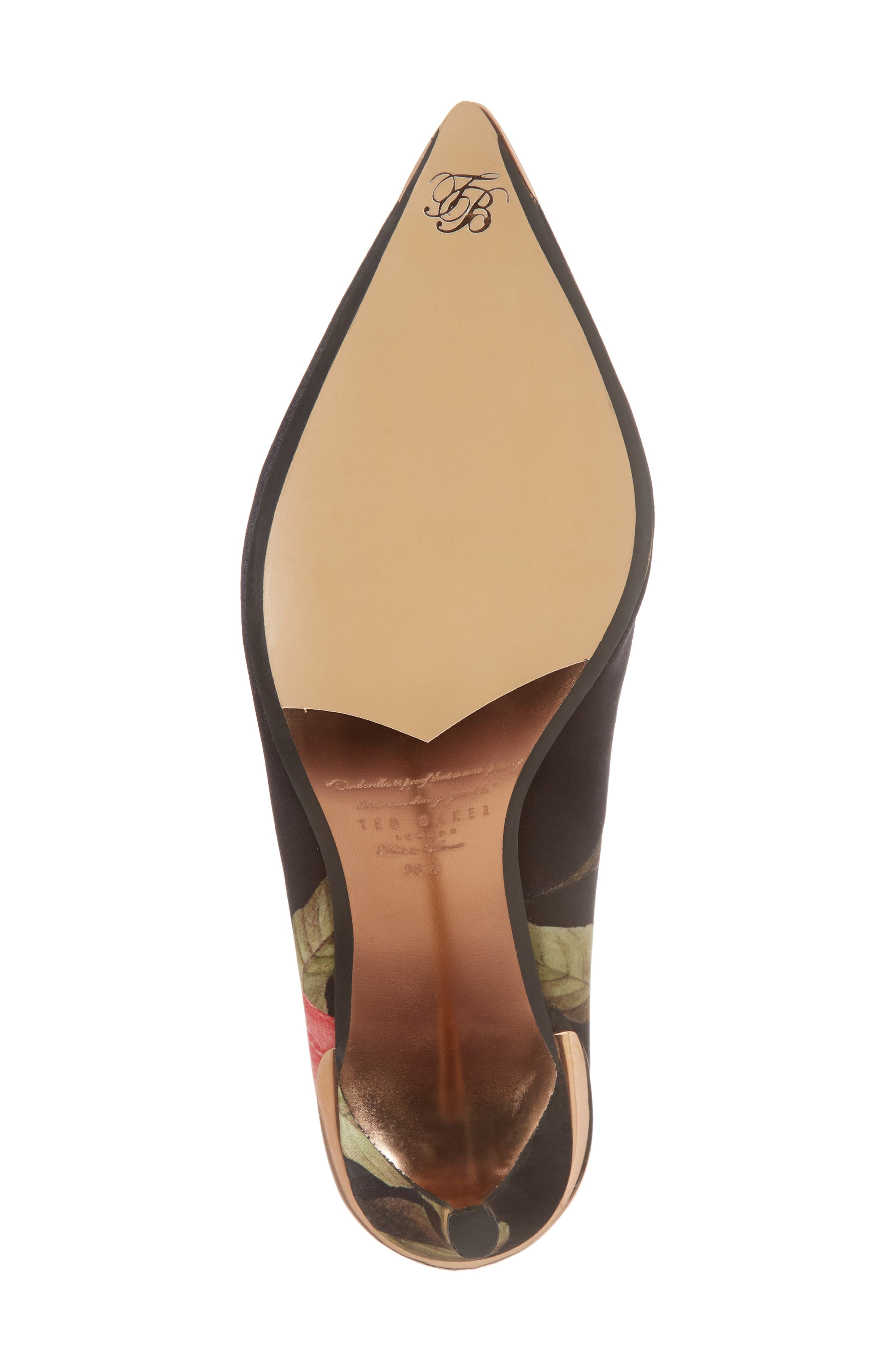 TED BAKER LONDON,                             Pointy Toe Pump,                             Alternate thumbnail 6, color,                             001