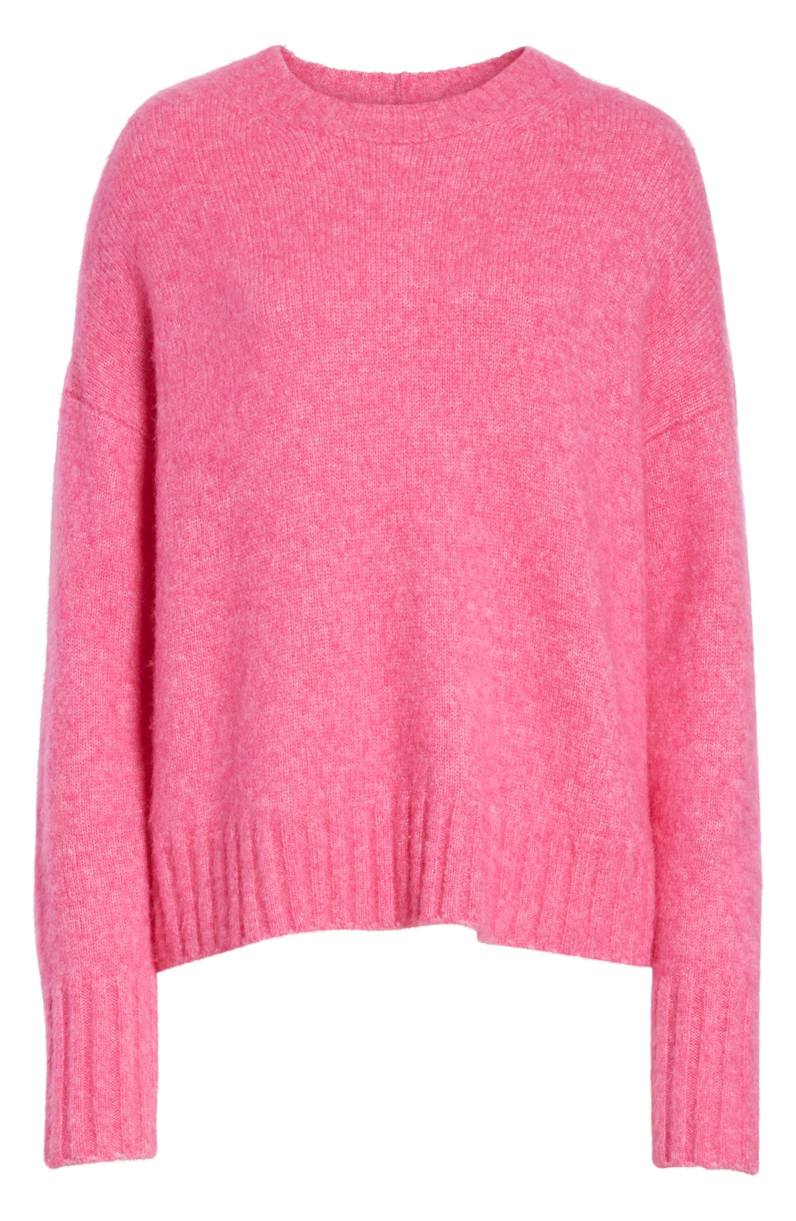 Wool & Alpaca Blend Sweater,                             Alternate thumbnail 6, color,                             653