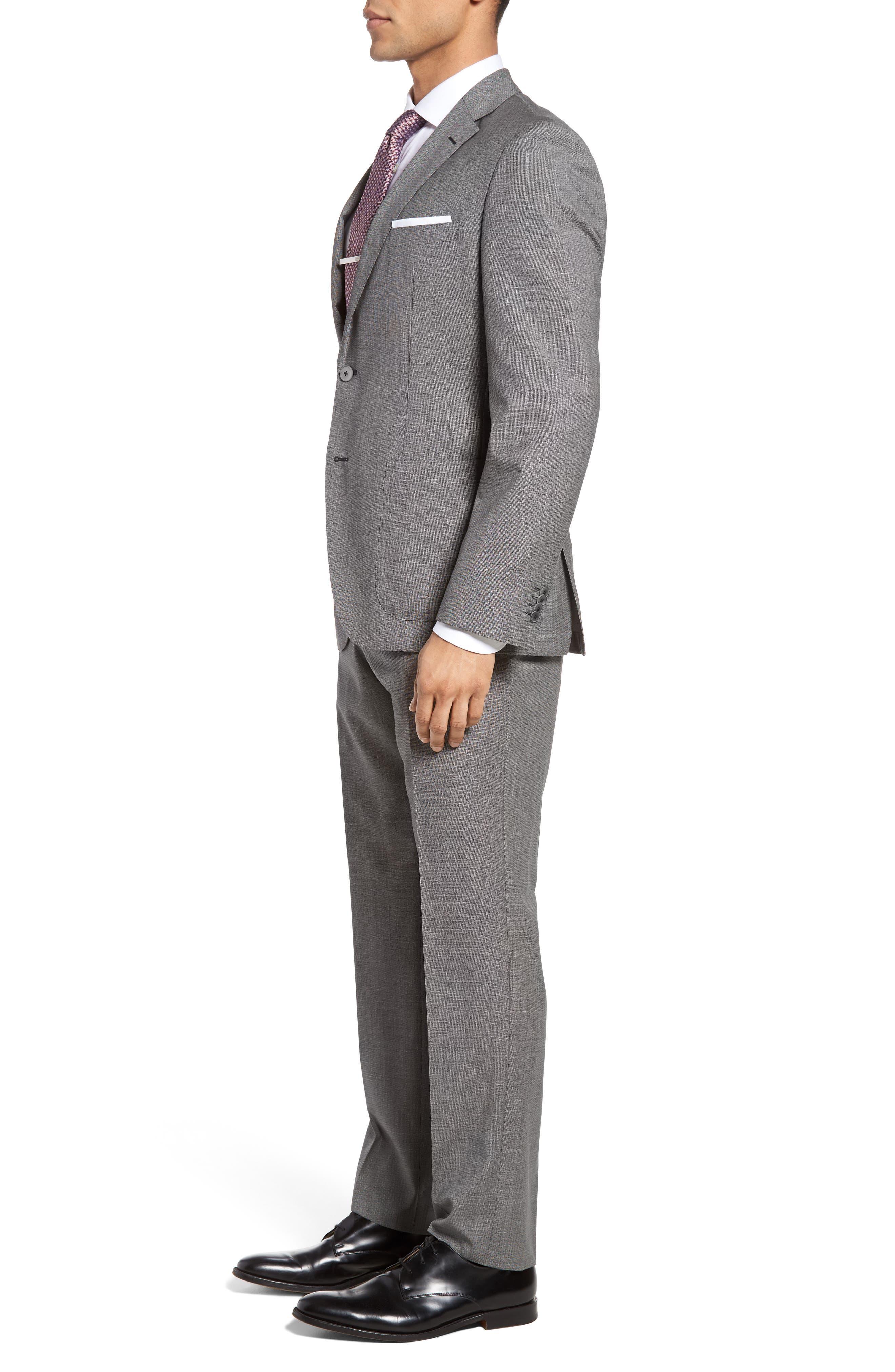 Janon/Lenon Trim Fit Solid Wool Suit,                             Alternate thumbnail 3, color,                             020