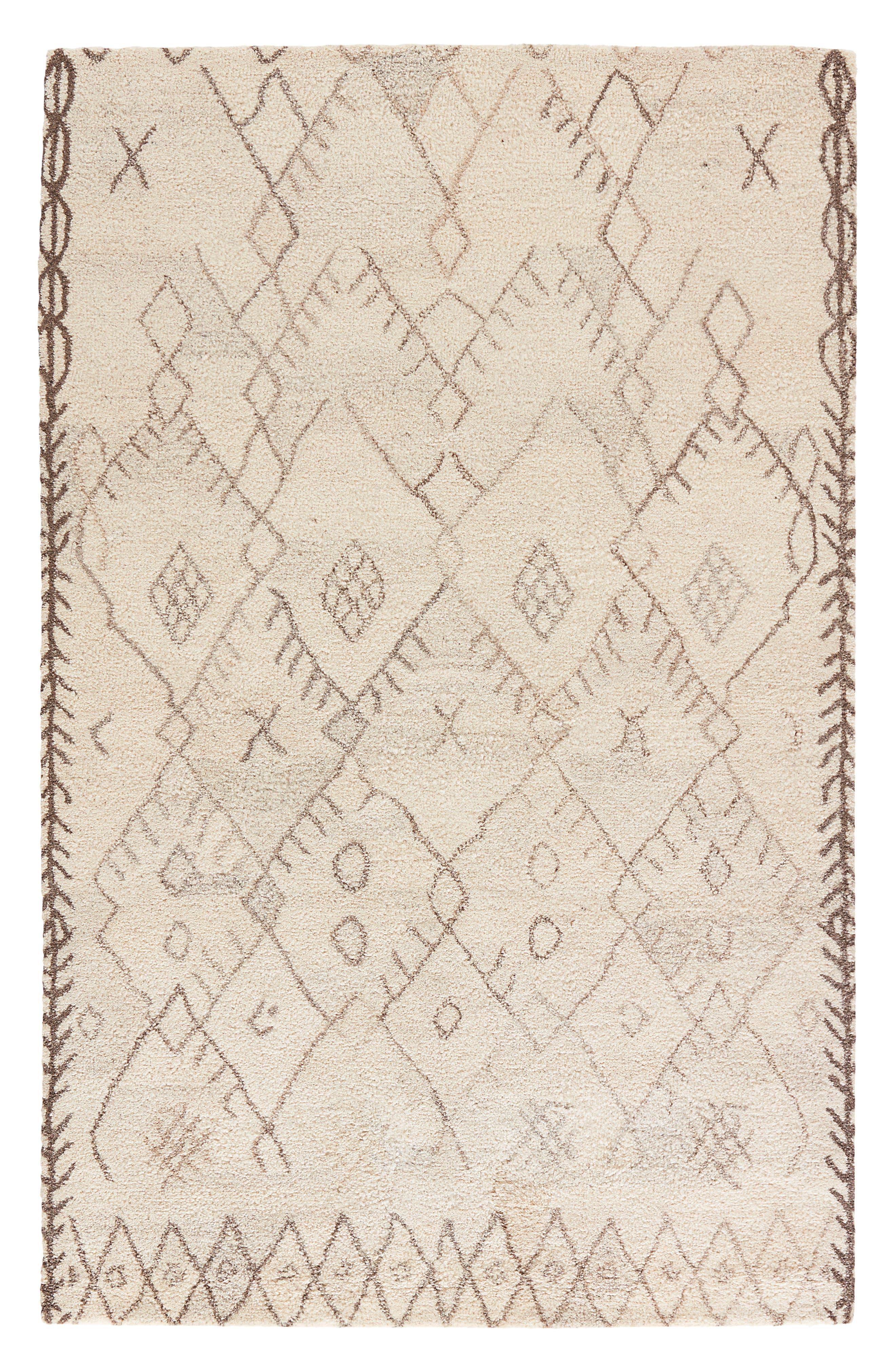 Geo Pattern Wool Rug,                             Main thumbnail 1, color,                             250