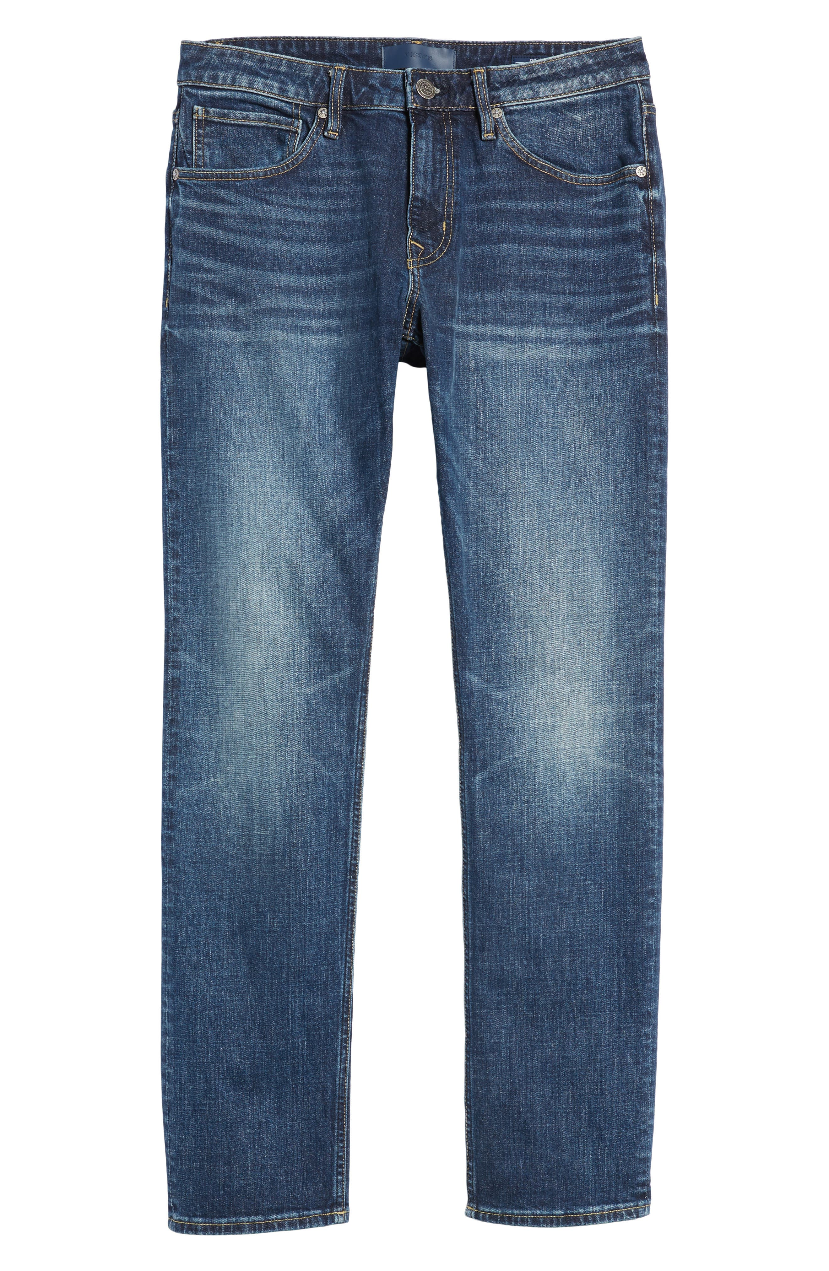 Slim Straight Leg Jeans,                             Alternate thumbnail 6, color,                             MEDIUM WASH
