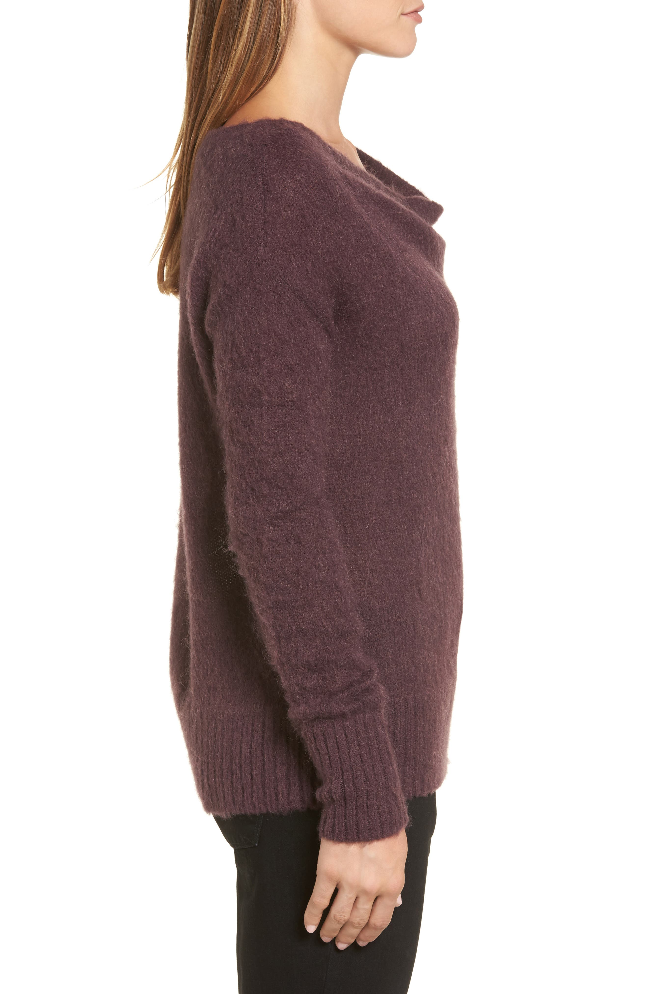 Long Sleeve Brushed Sweater,                             Alternate thumbnail 16, color,