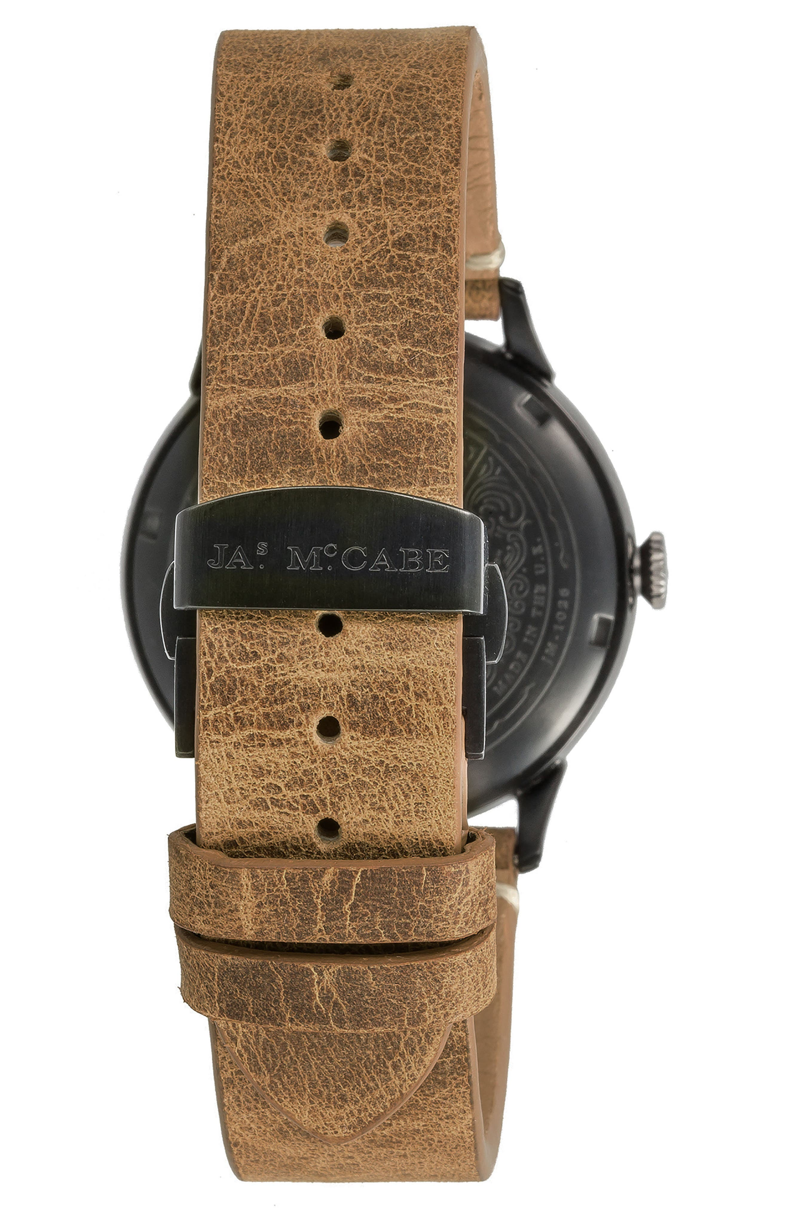 Heritage Retrograde II Leather Strap Watch, 35mm,                             Alternate thumbnail 2, color,                             200