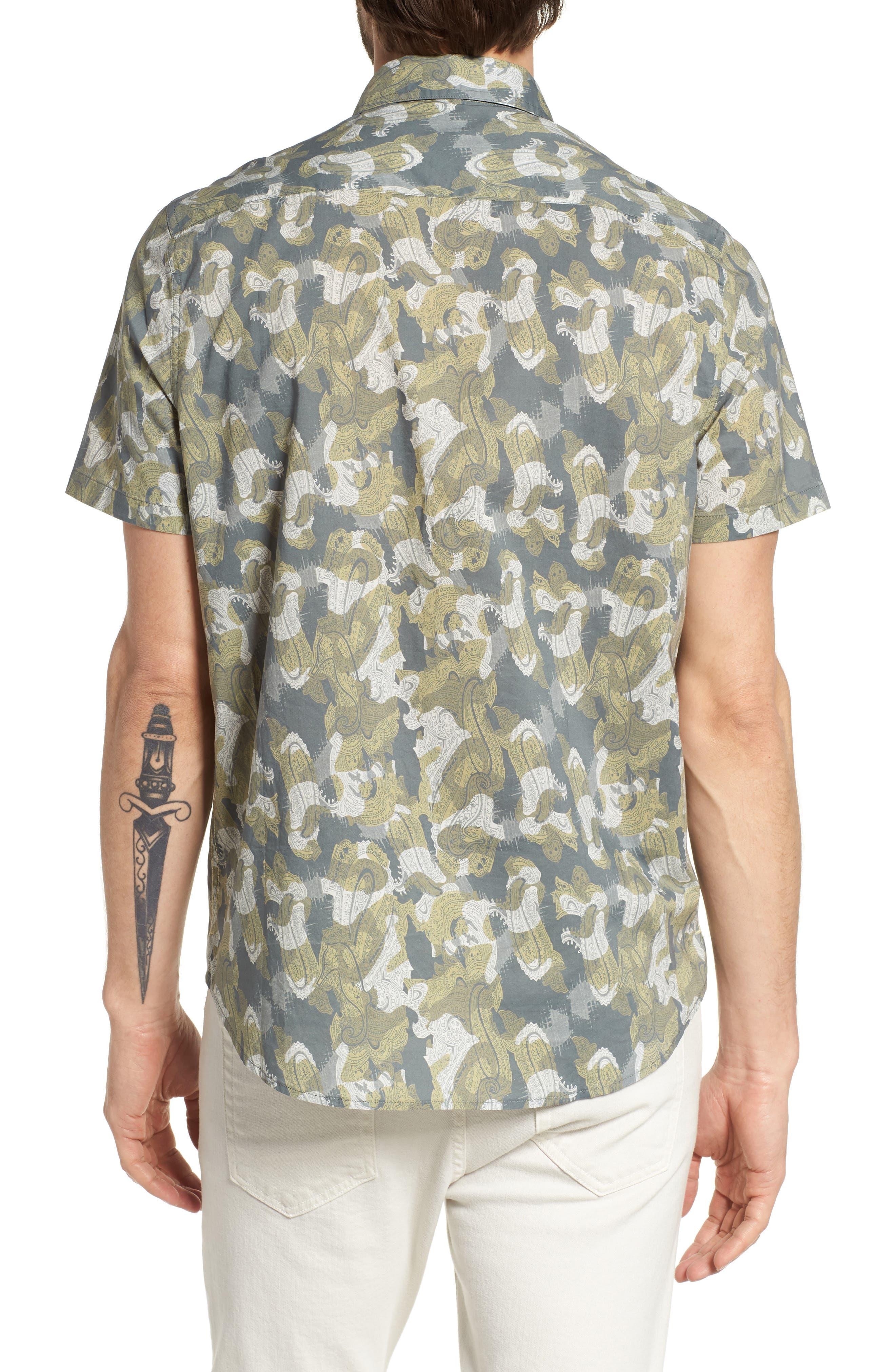 Paisley Print Short Sleeve Sport Shirt,                             Alternate thumbnail 2, color,                             036
