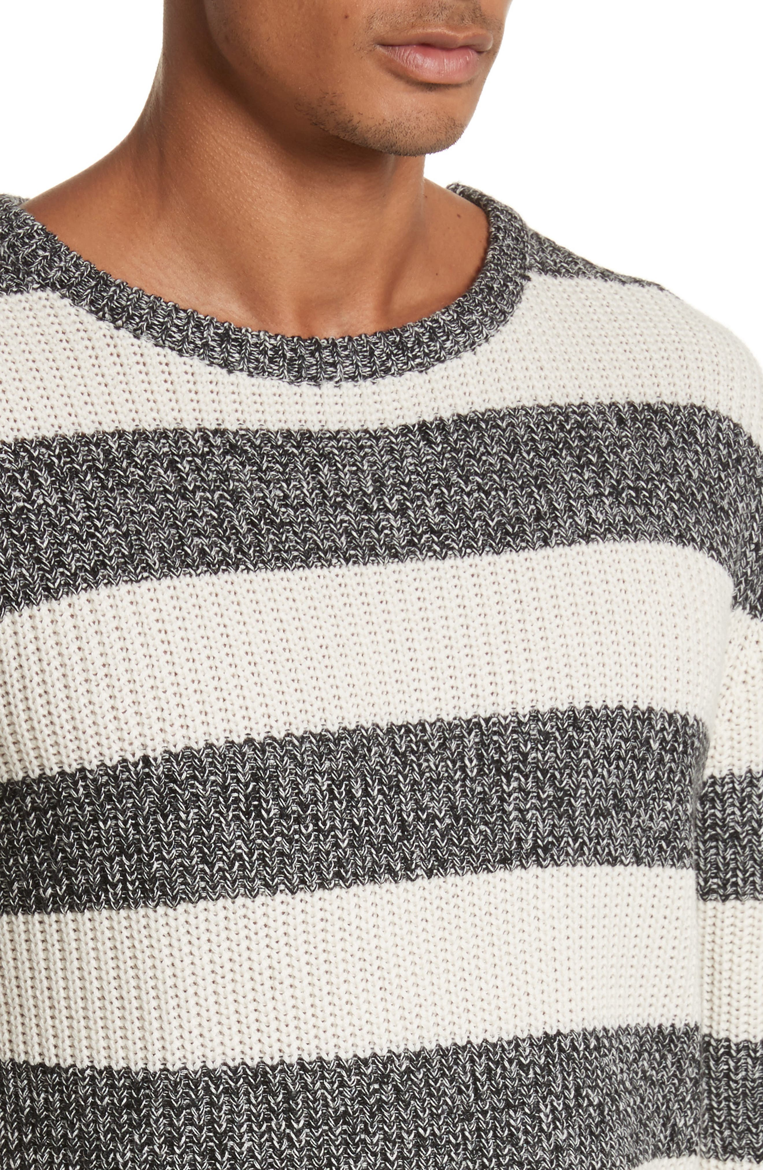 Lee Stripe Crewneck Sweater,                             Alternate thumbnail 4, color,                             101