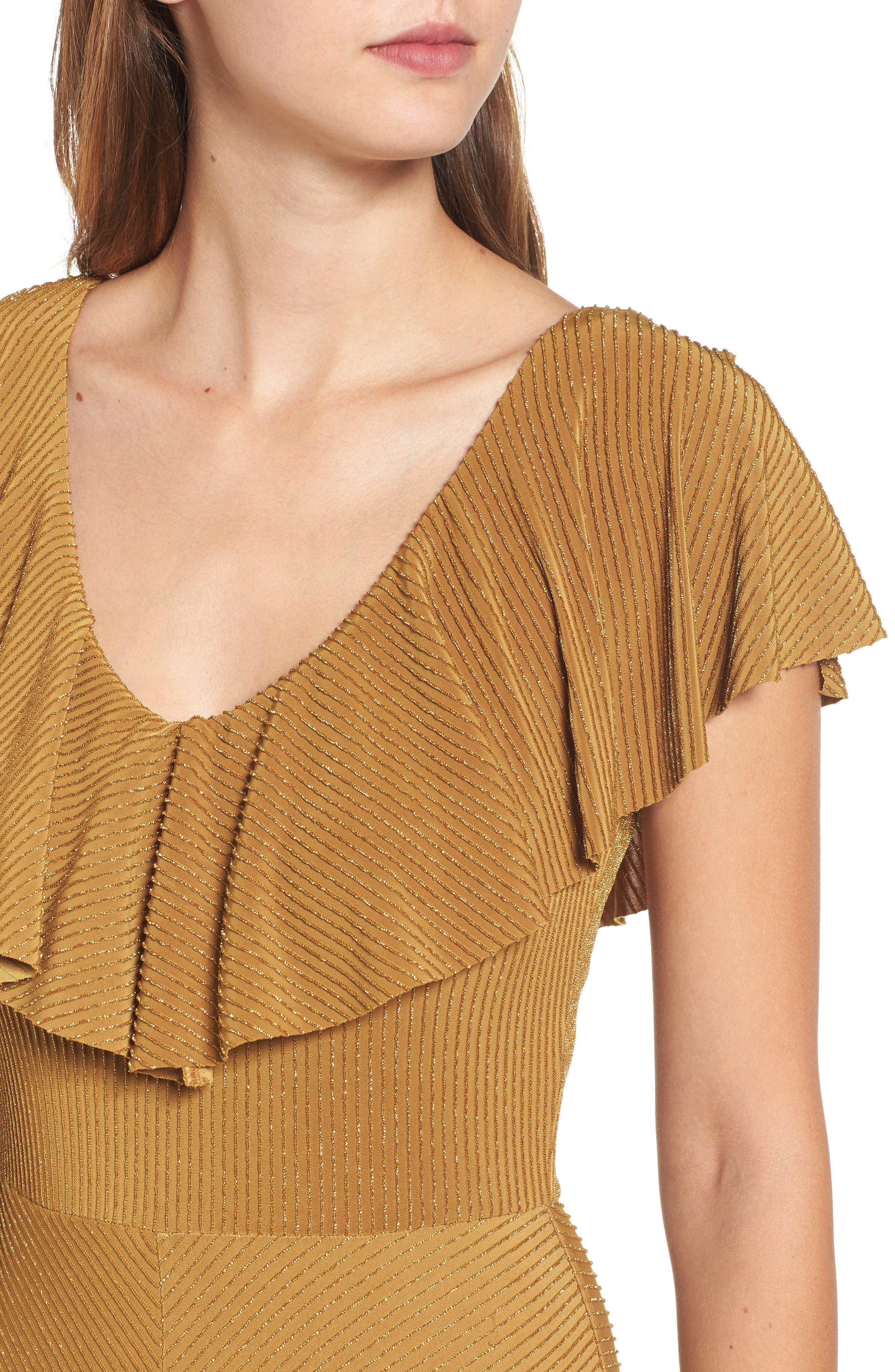 Ruffle Midi Dress,                             Alternate thumbnail 4, color,                             710