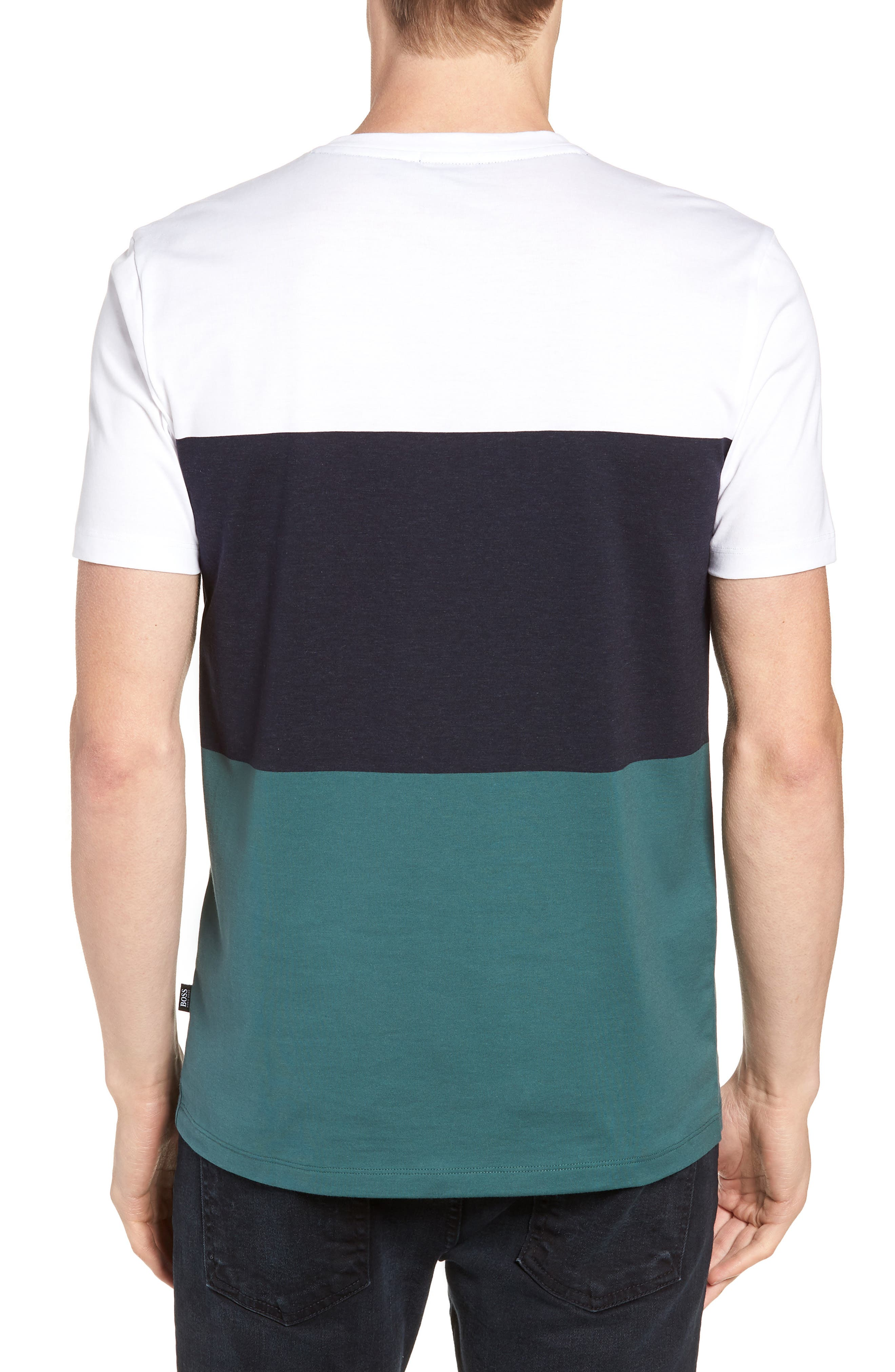 Tessler Colorblock Slim Fit T-Shirt,                             Alternate thumbnail 2, color,                             BLUE