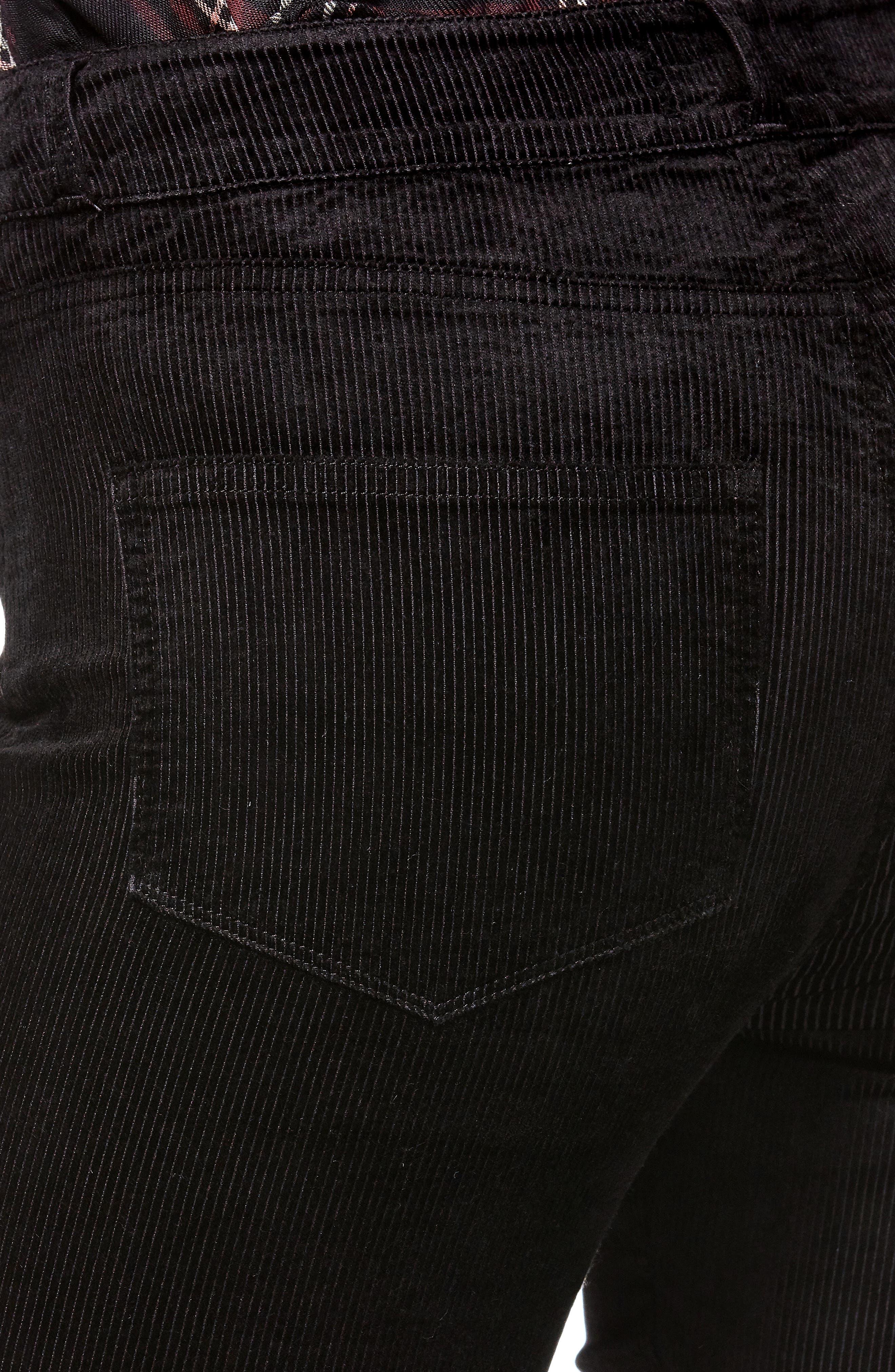 Transcend - Hoxton High Waist Ultra Skinny Jeans,                             Alternate thumbnail 4, color,                             BLACK VELVET CORD