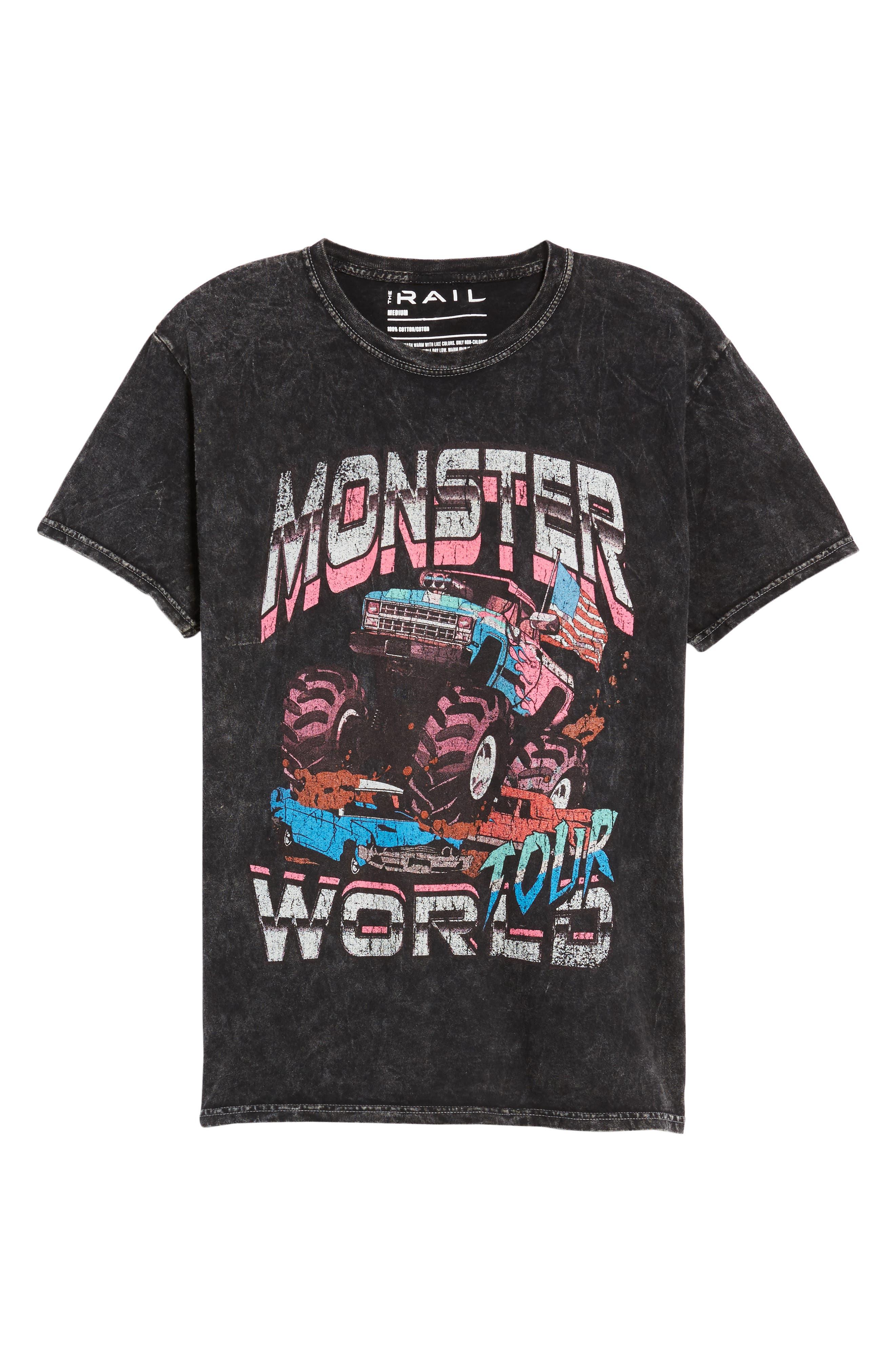 Monster World Graphic T-Shirt,                             Alternate thumbnail 6, color,                             001