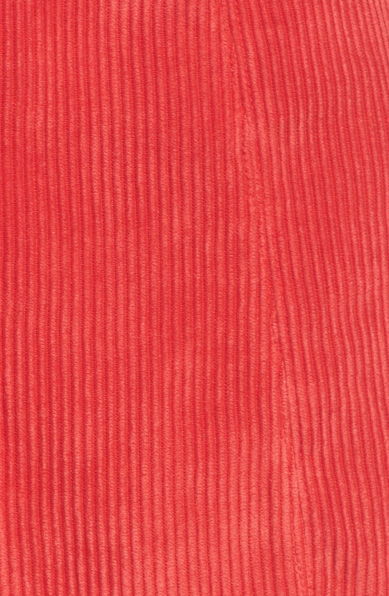 Central Corduroy Scallop Hem Skirt,                             Alternate thumbnail 5, color,                             621