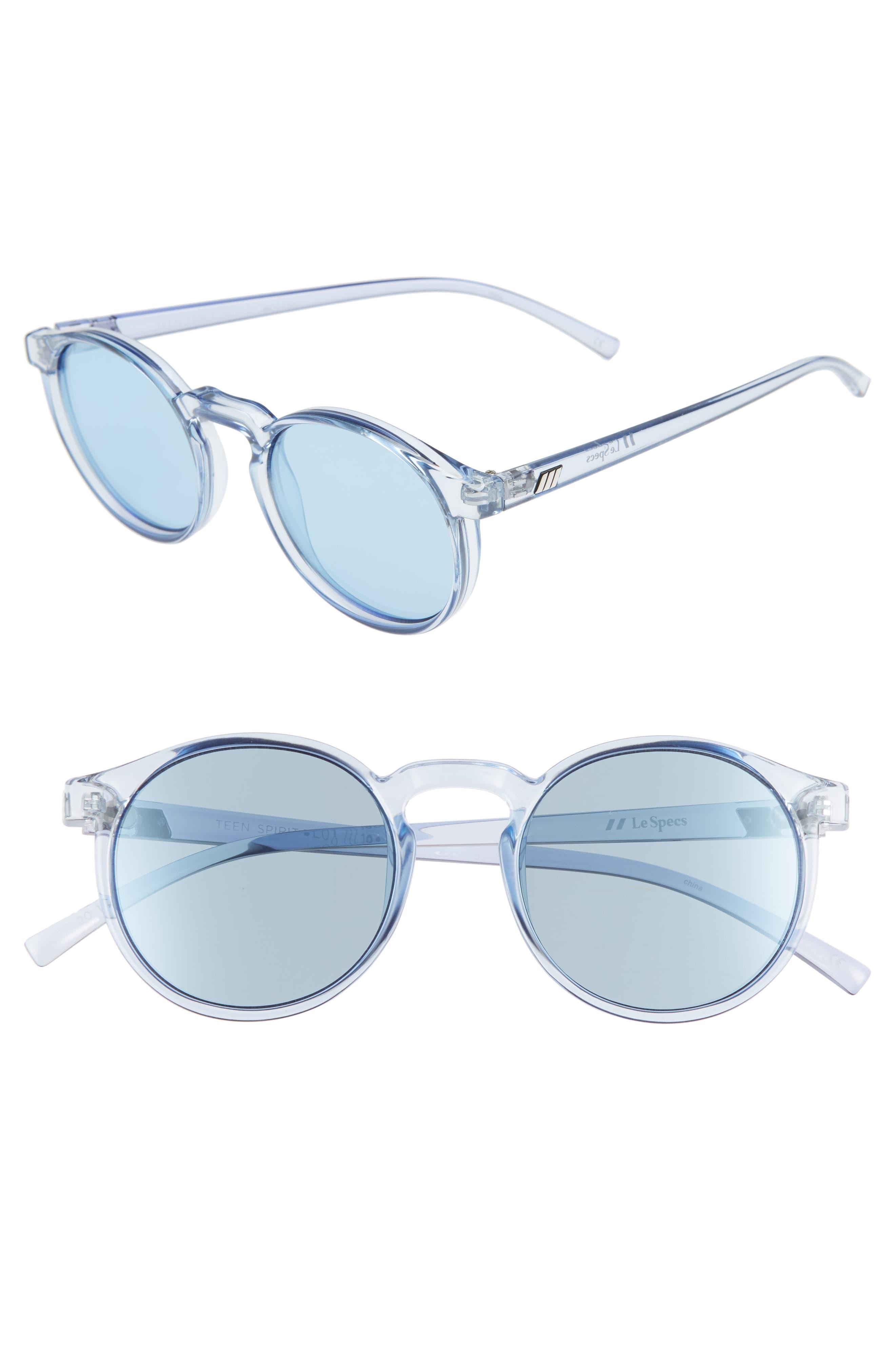 Le Specs Teen Spirit Deaux 50Mm Round Sunglasses - Chambray
