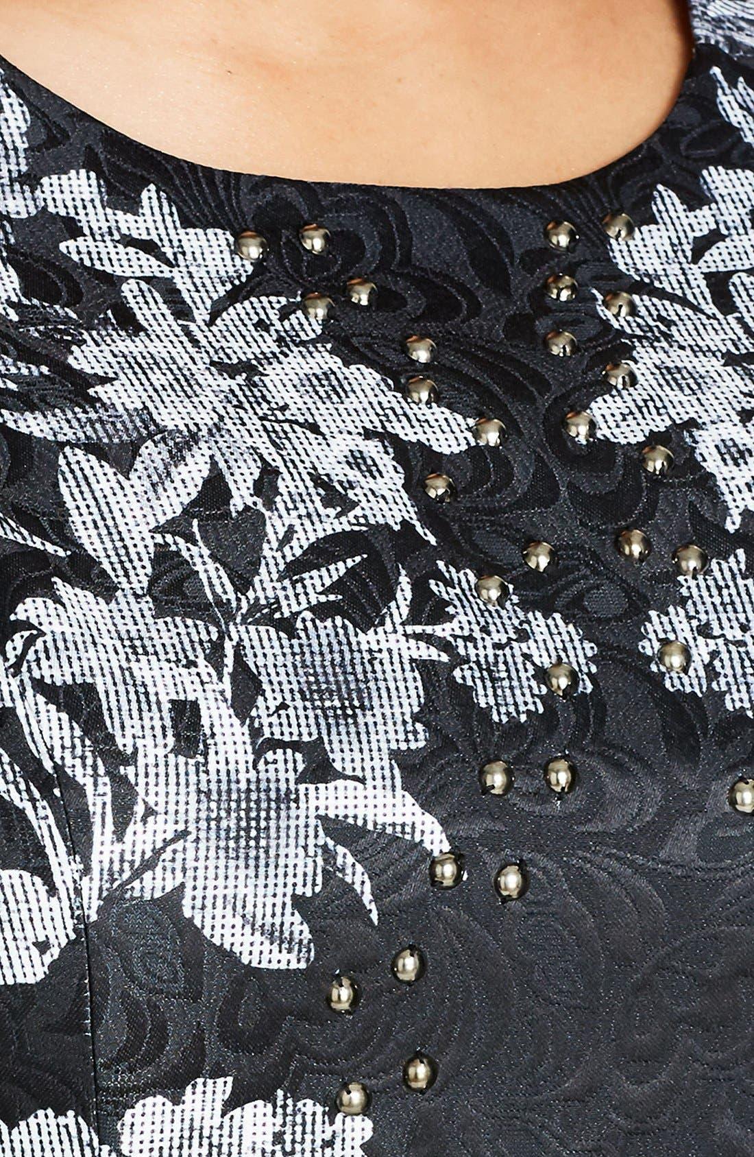 'Femme Royale' Fit & Flare Dress,                             Alternate thumbnail 8, color,