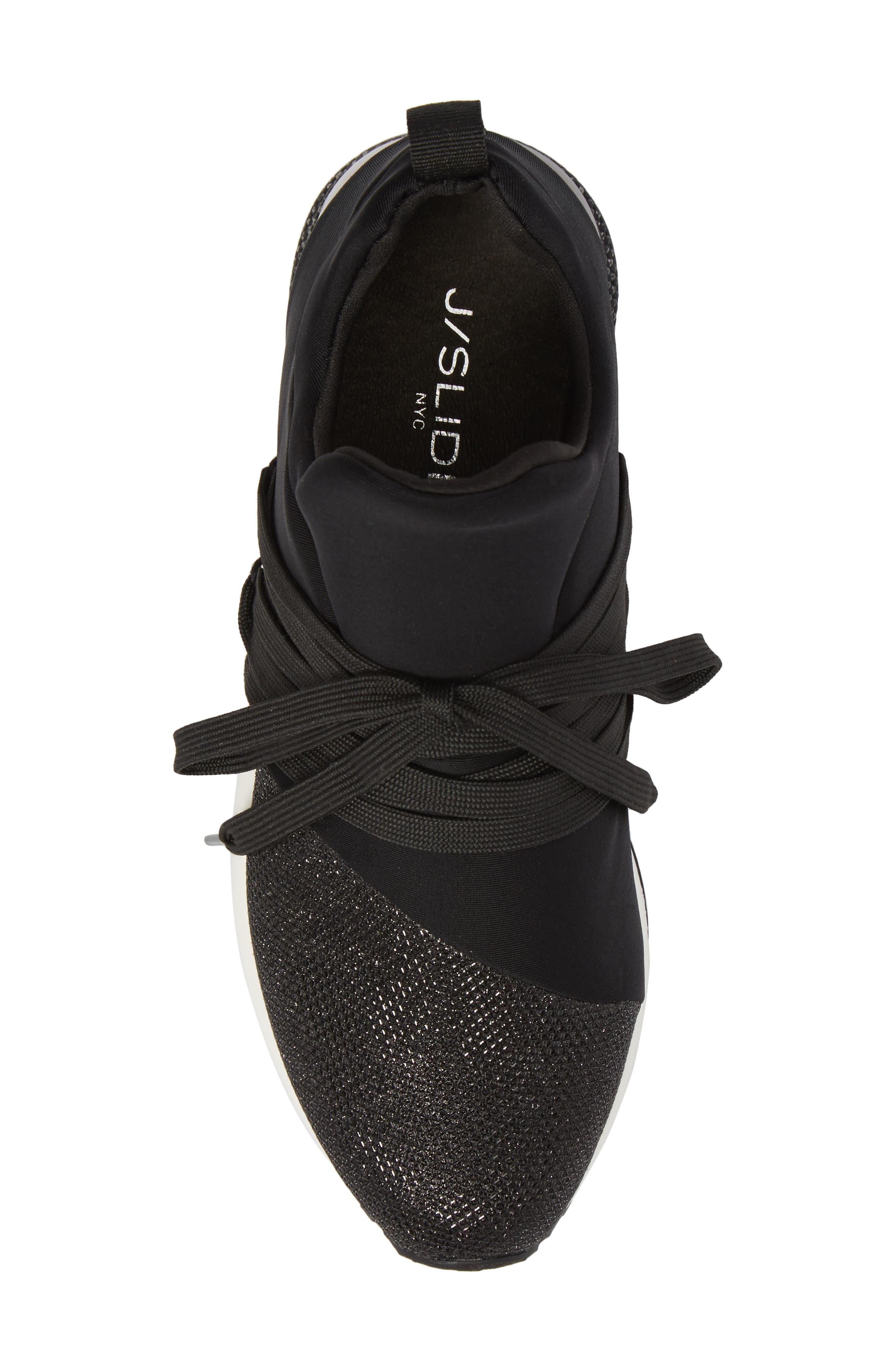 Zorro Sneaker,                             Alternate thumbnail 5, color,                             BLACK FABRIC
