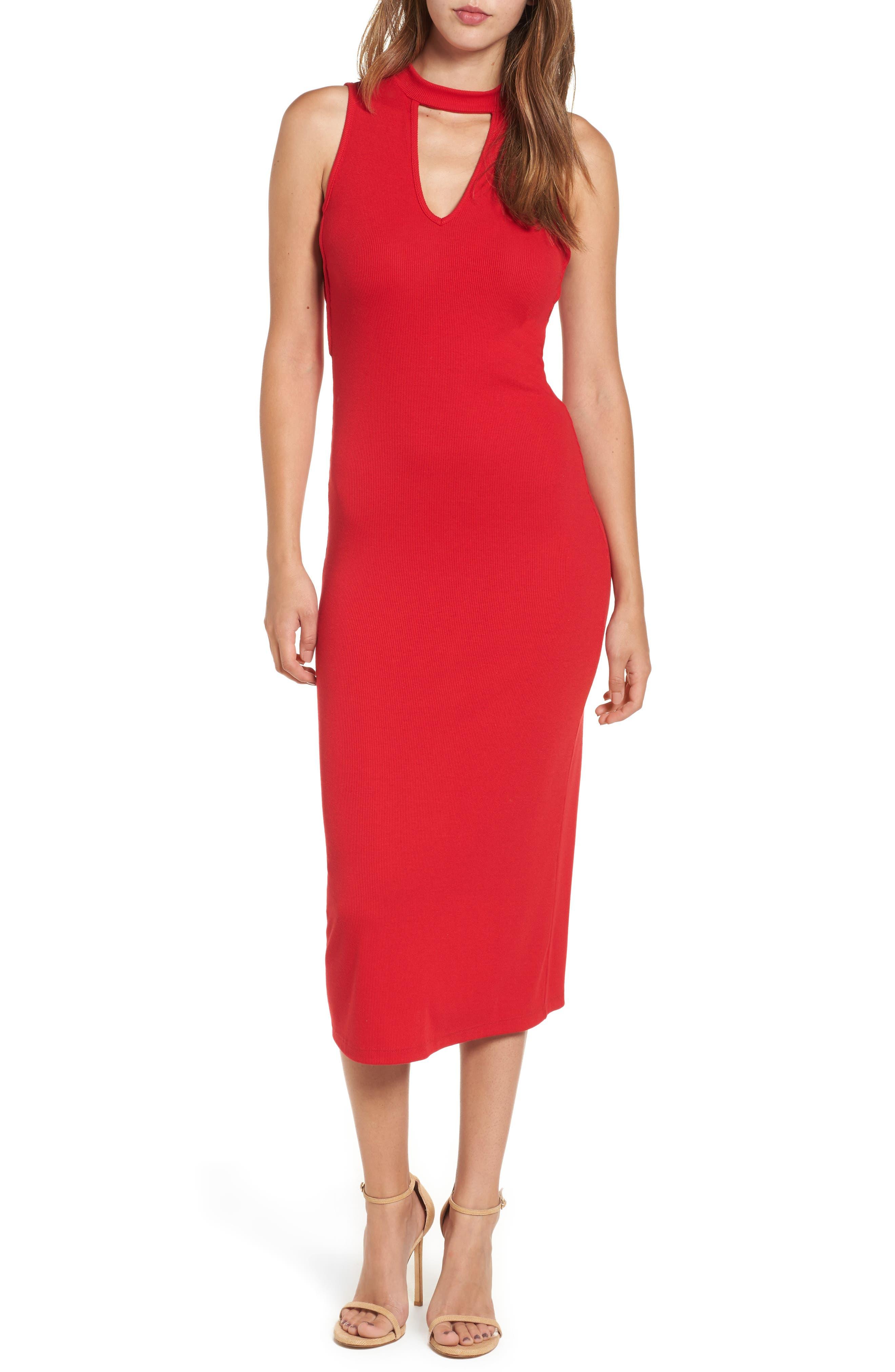 Body-Con Knit Dress,                         Main,                         color,