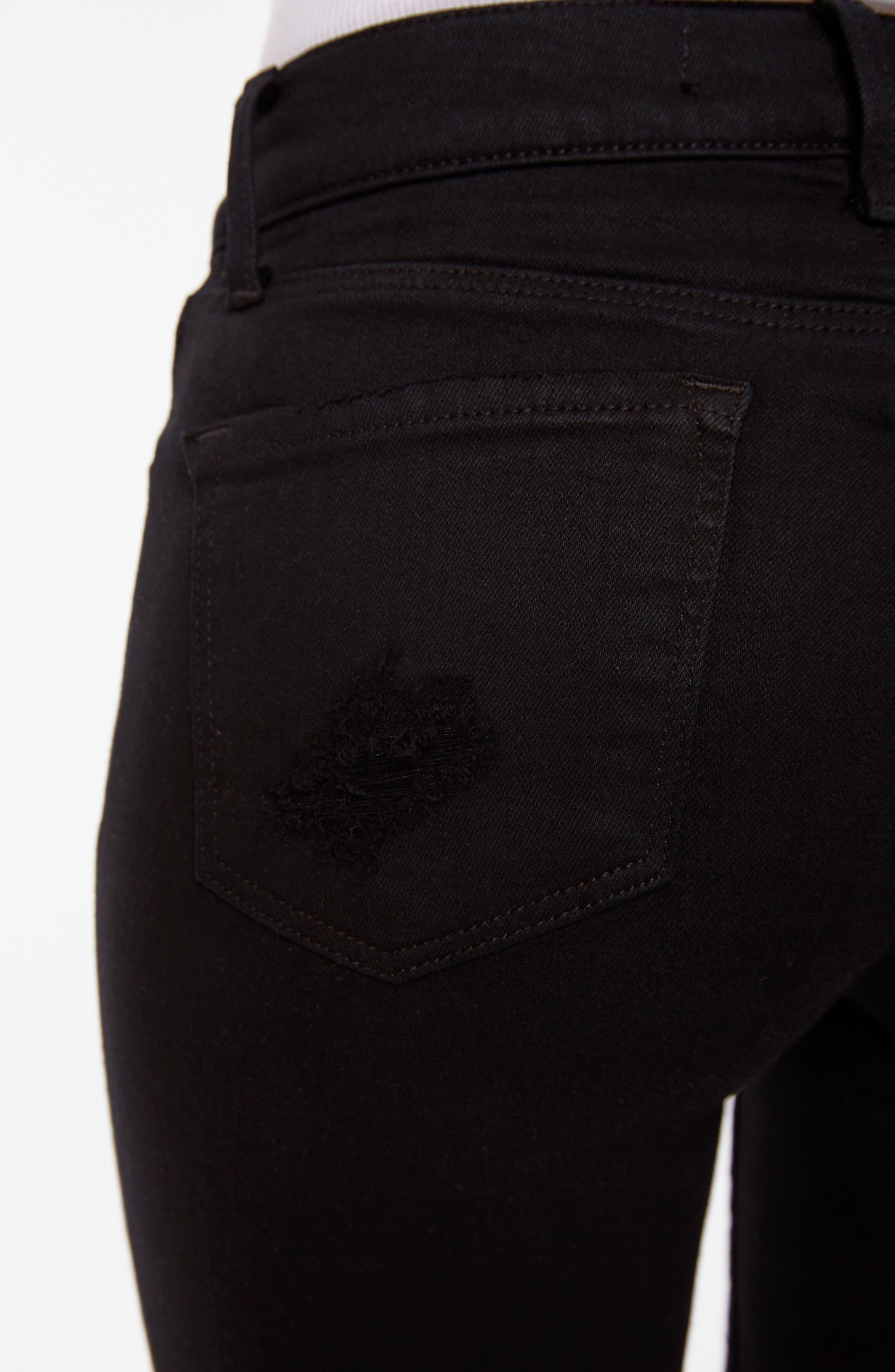 835 Capri Skinny Jeans,                             Alternate thumbnail 4, color,                             OVEREXPOSURE