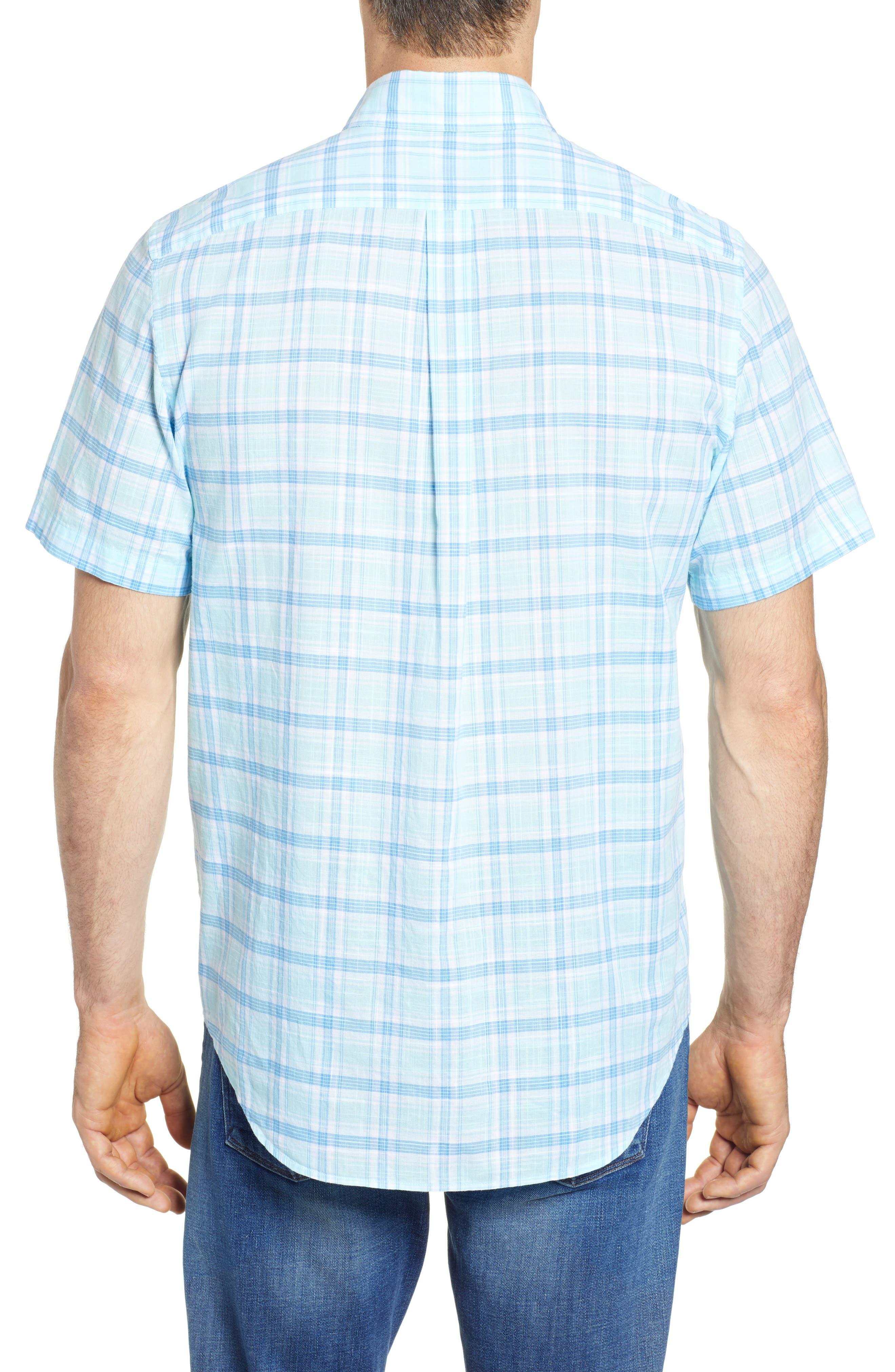Pleasant Bay Classic Fit Plaid Sport Shirt,                             Alternate thumbnail 2, color,                             437