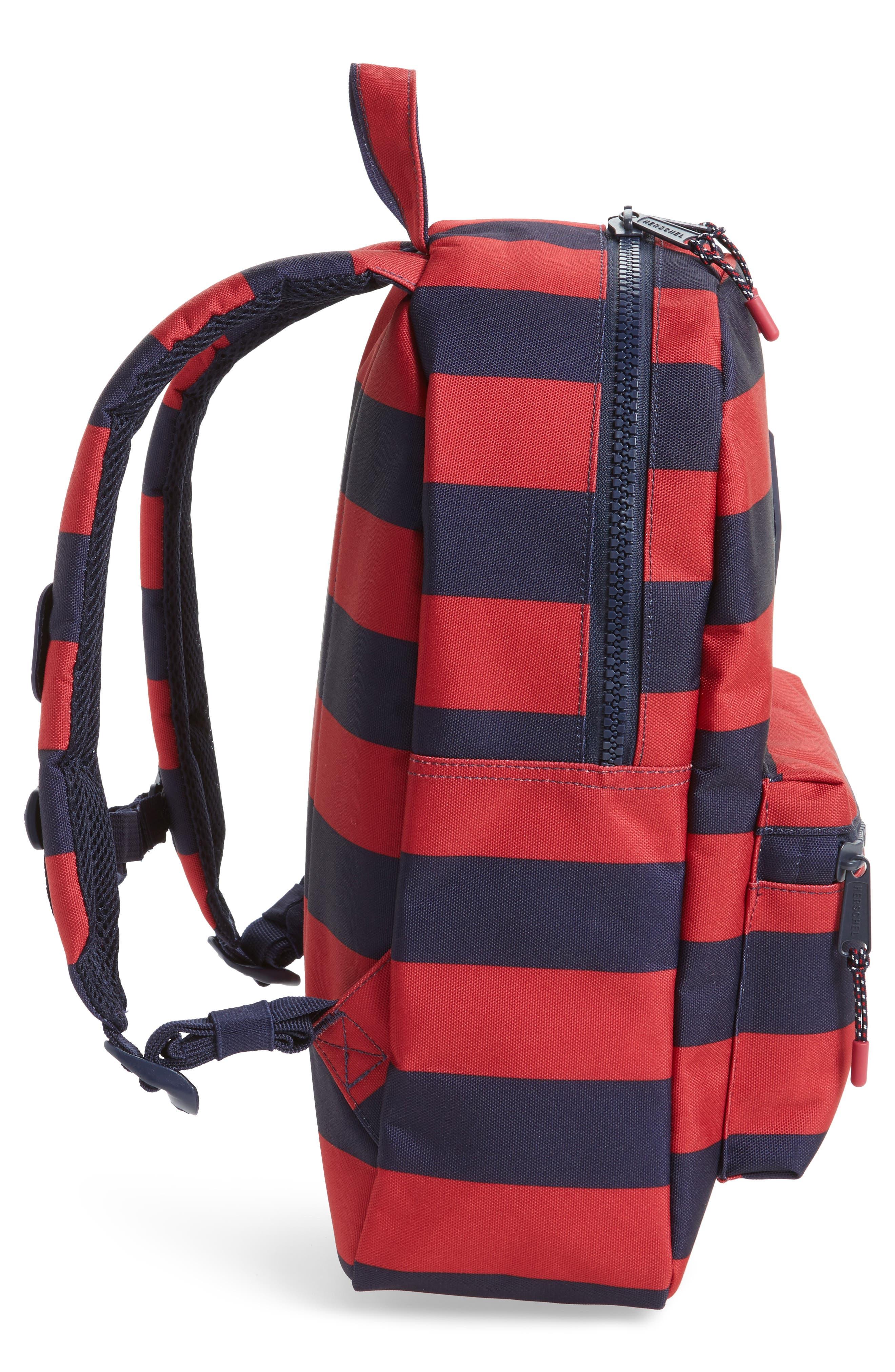 Heritage Stripe Backpack,                             Alternate thumbnail 4, color,                             400