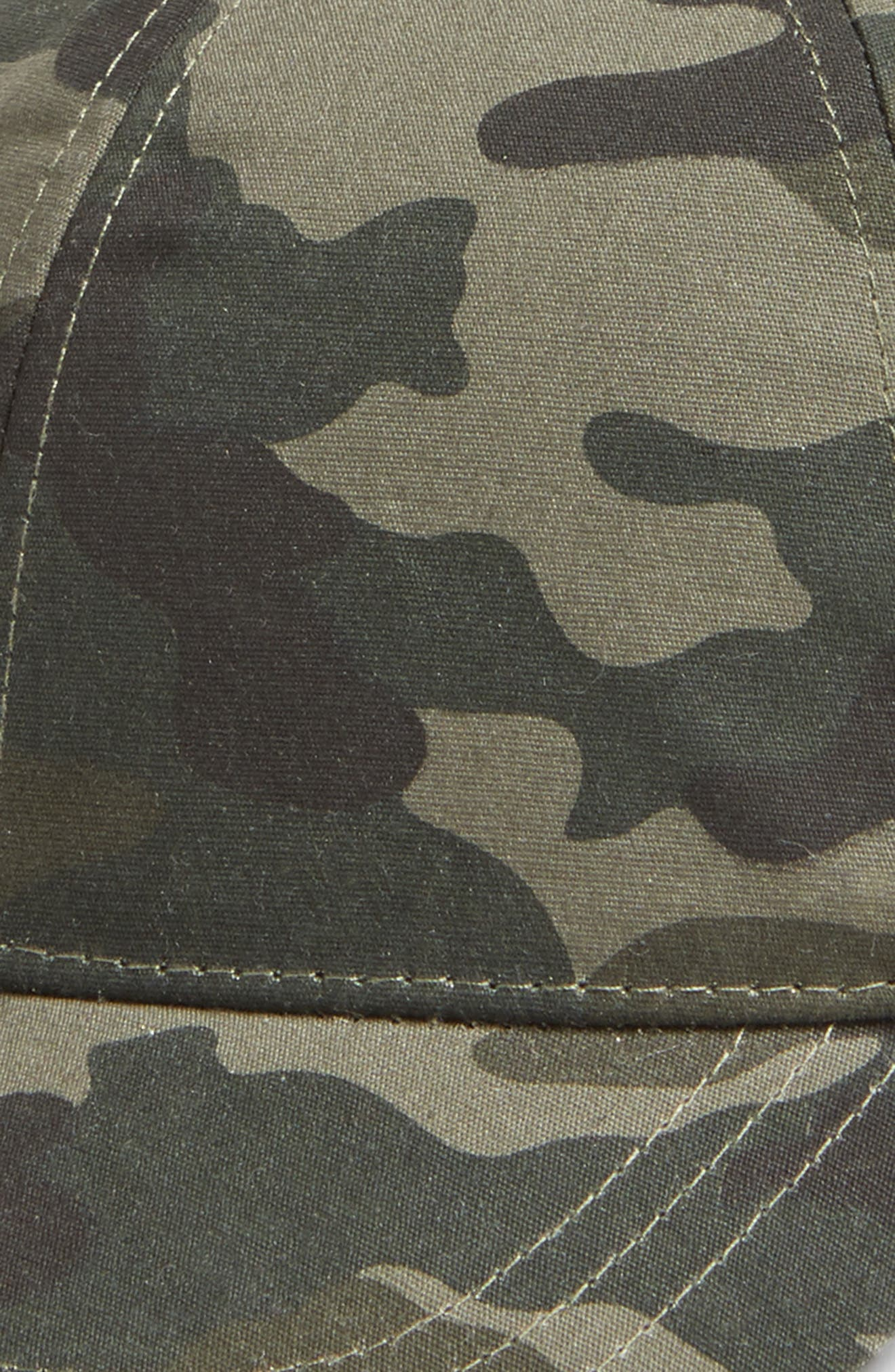 Camo Print Baseball Cap,                             Alternate thumbnail 3, color,