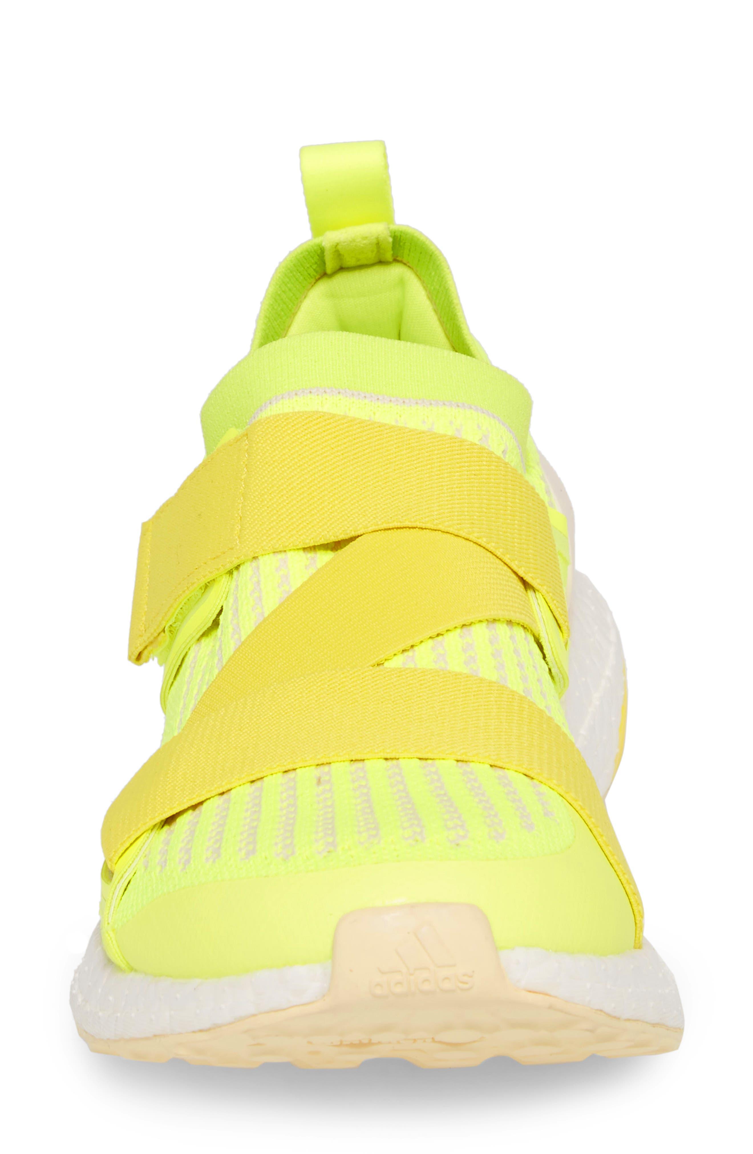 UltraBoost X Running Shoe,                             Alternate thumbnail 4, color,                             SOLAR YELLOW/ YELLOW/ SUN