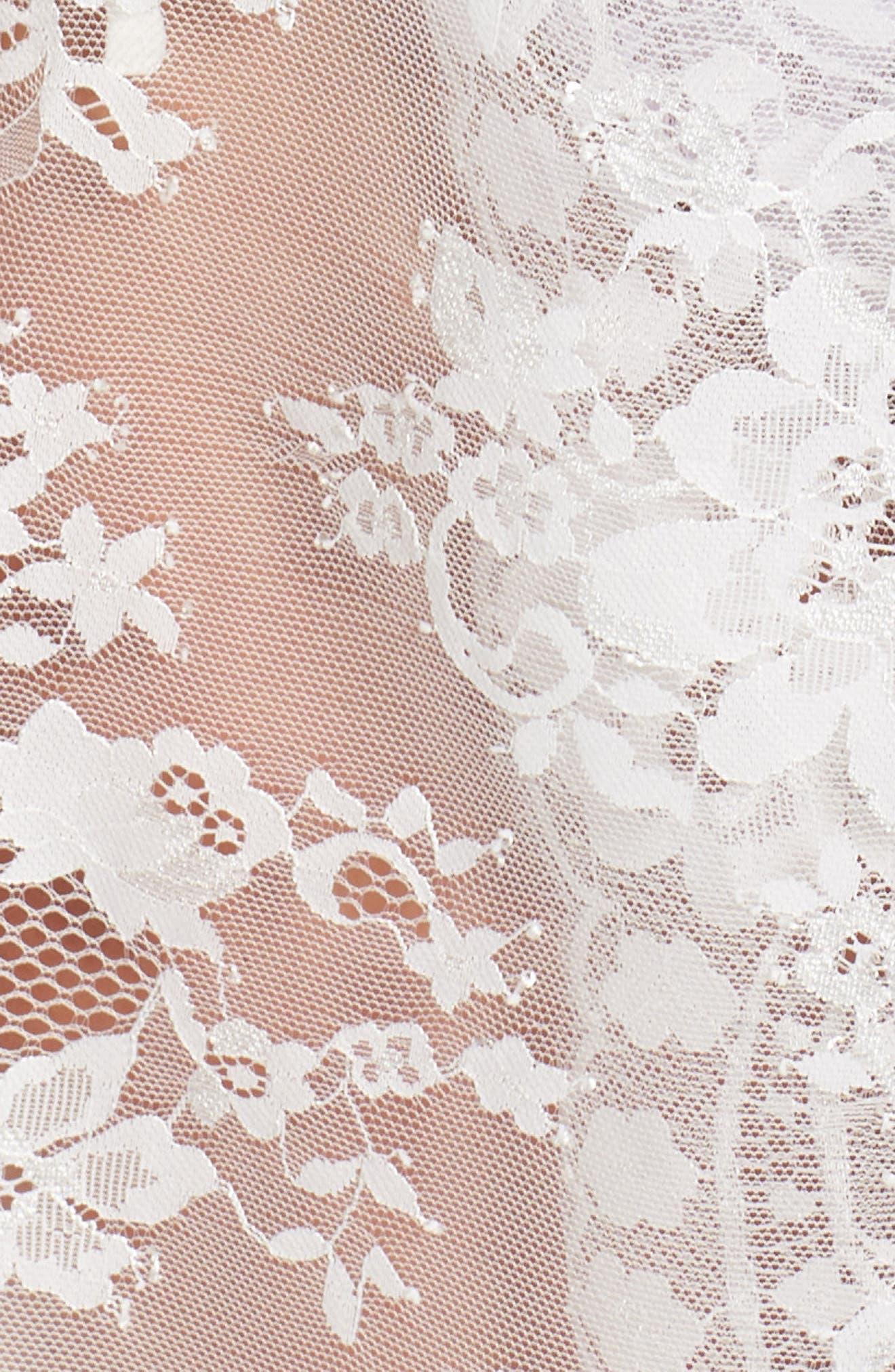 Kassiah Short Lace Wrap,                             Alternate thumbnail 5, color,                             WHITE