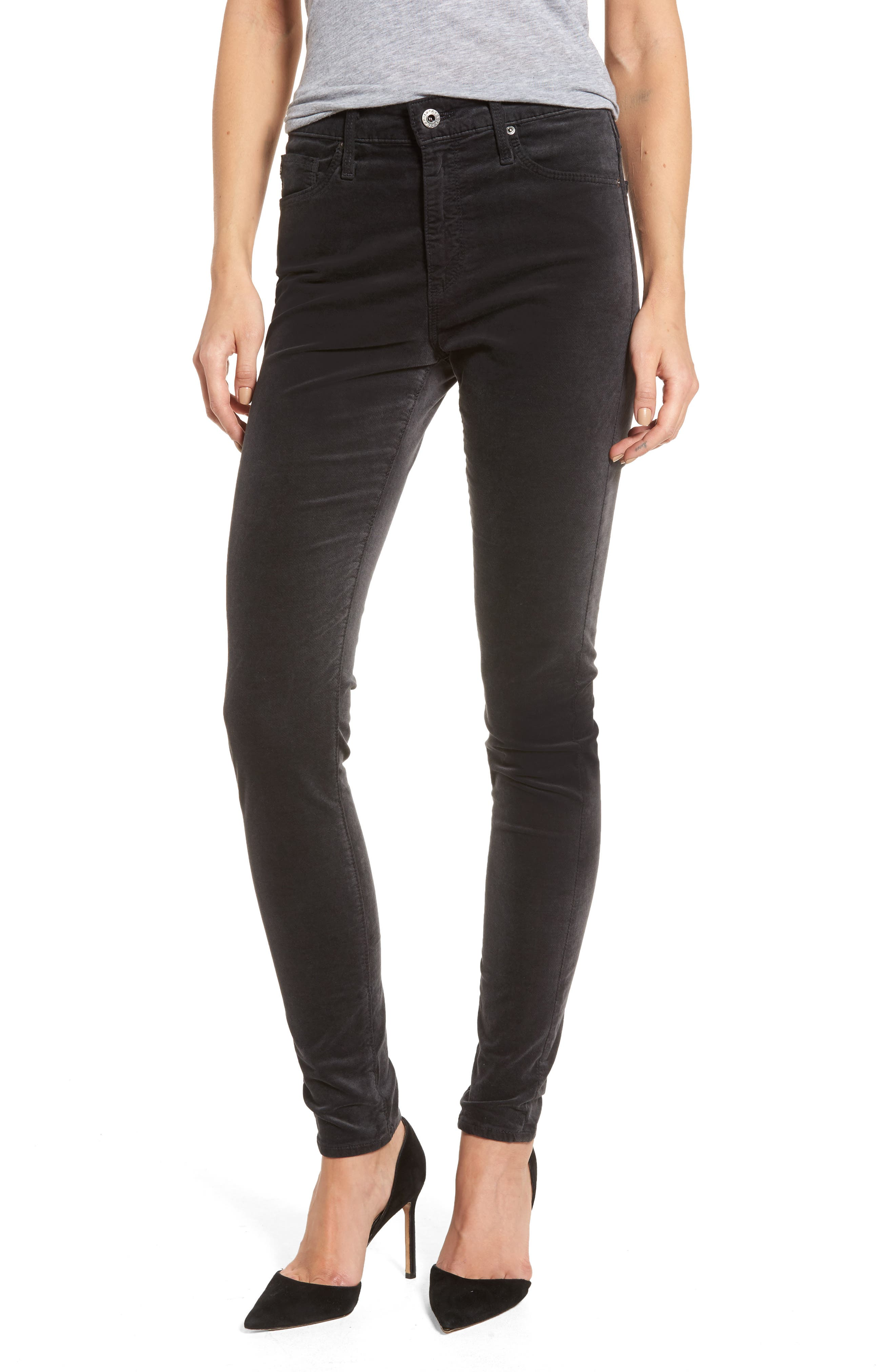 The Farrah High Waist Velvet Jeans,                         Main,                         color, 023
