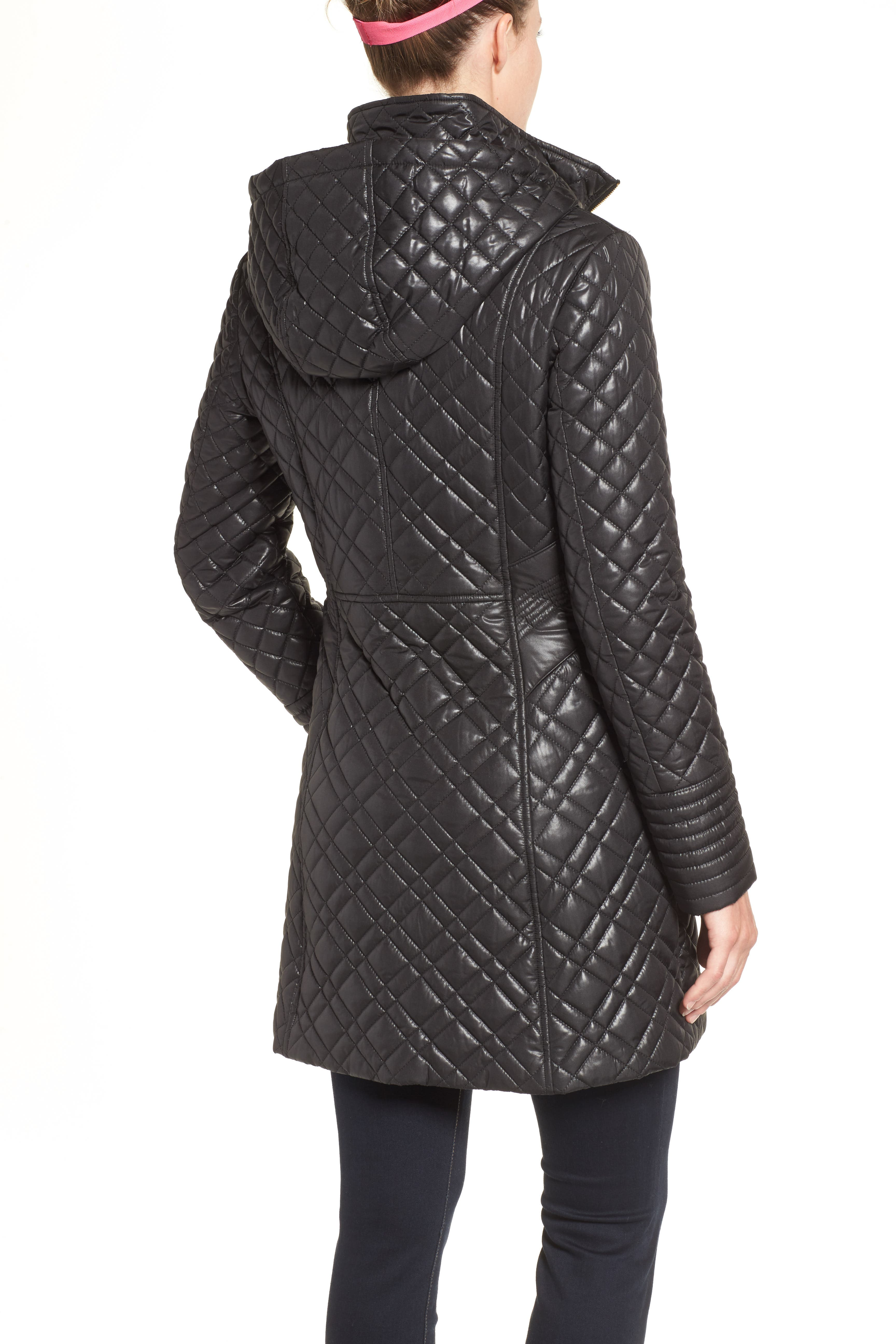 Tassel Detail Hooded Mix Quilt Coat,                             Alternate thumbnail 13, color,