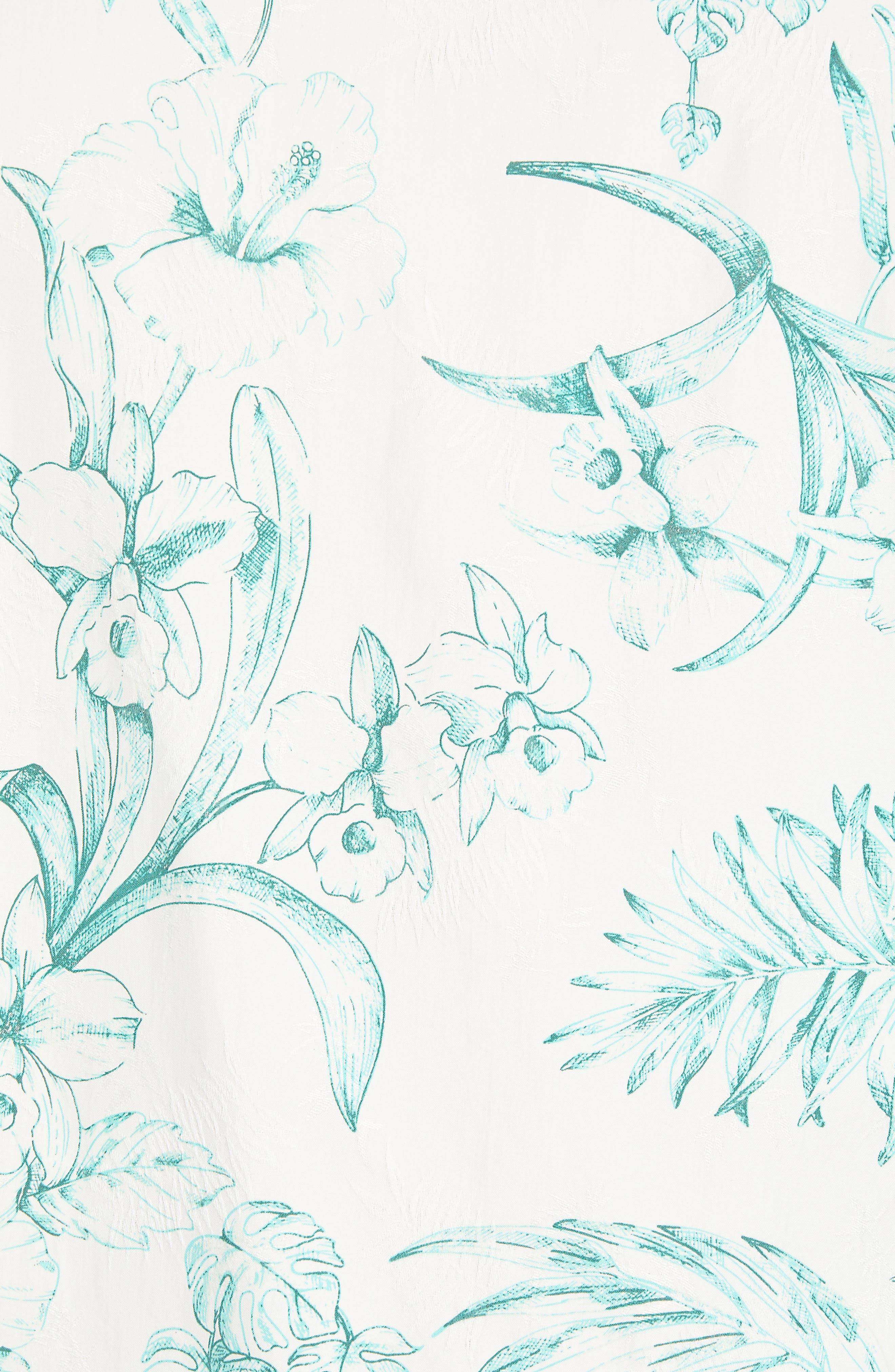 El Botanico Regular Fit Cotton & Silk Sport Shirt,                             Alternate thumbnail 5, color,                             MARBLE CRE