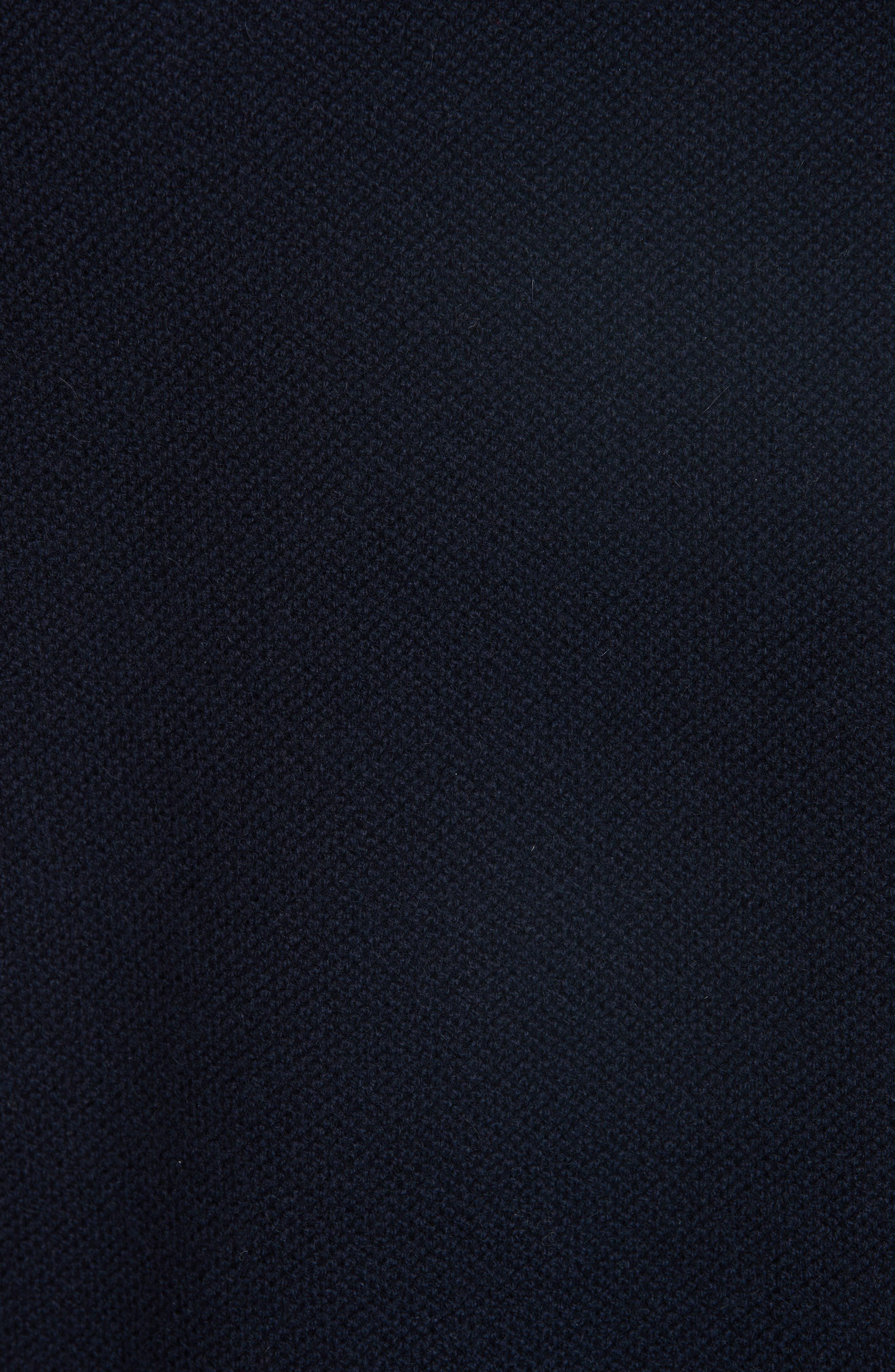 Wool & Cashmere Long Sleeve Polo,                             Alternate thumbnail 5, color,                             IAK NAVY