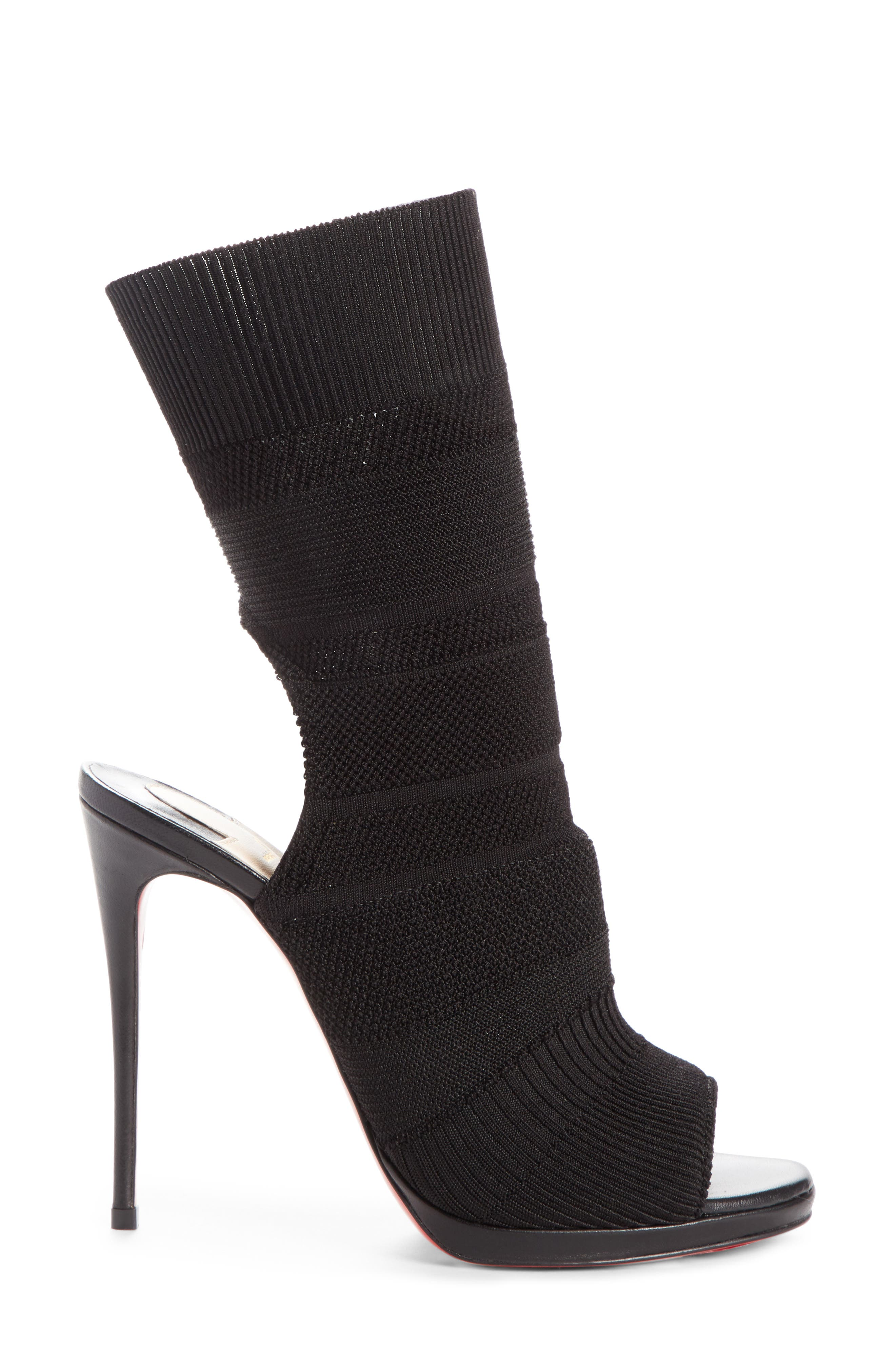 Cheminene Sock Sandal,                             Alternate thumbnail 3, color,                             001