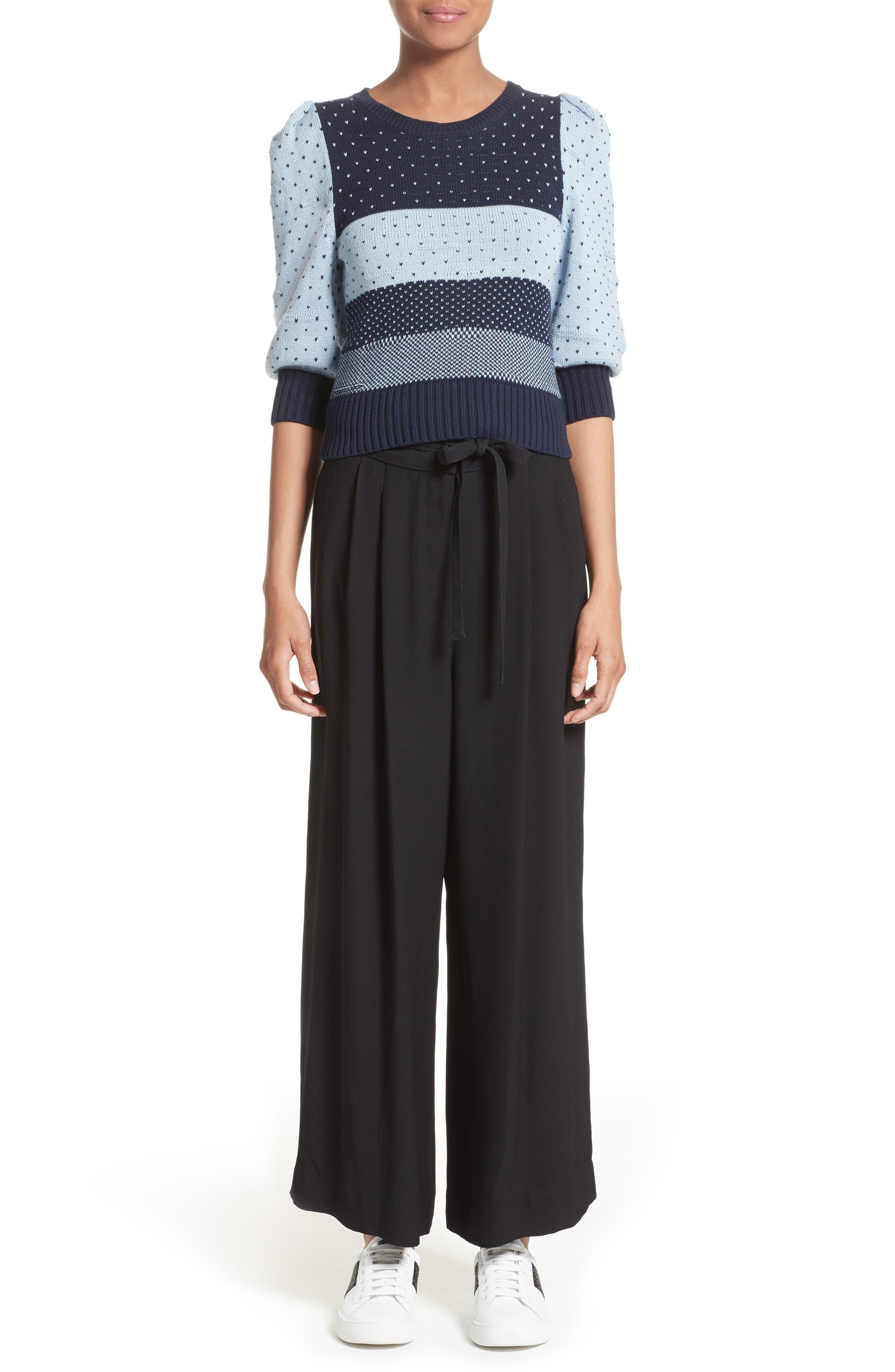 Cotton Jacquard Sweater,                             Alternate thumbnail 7, color,                             411